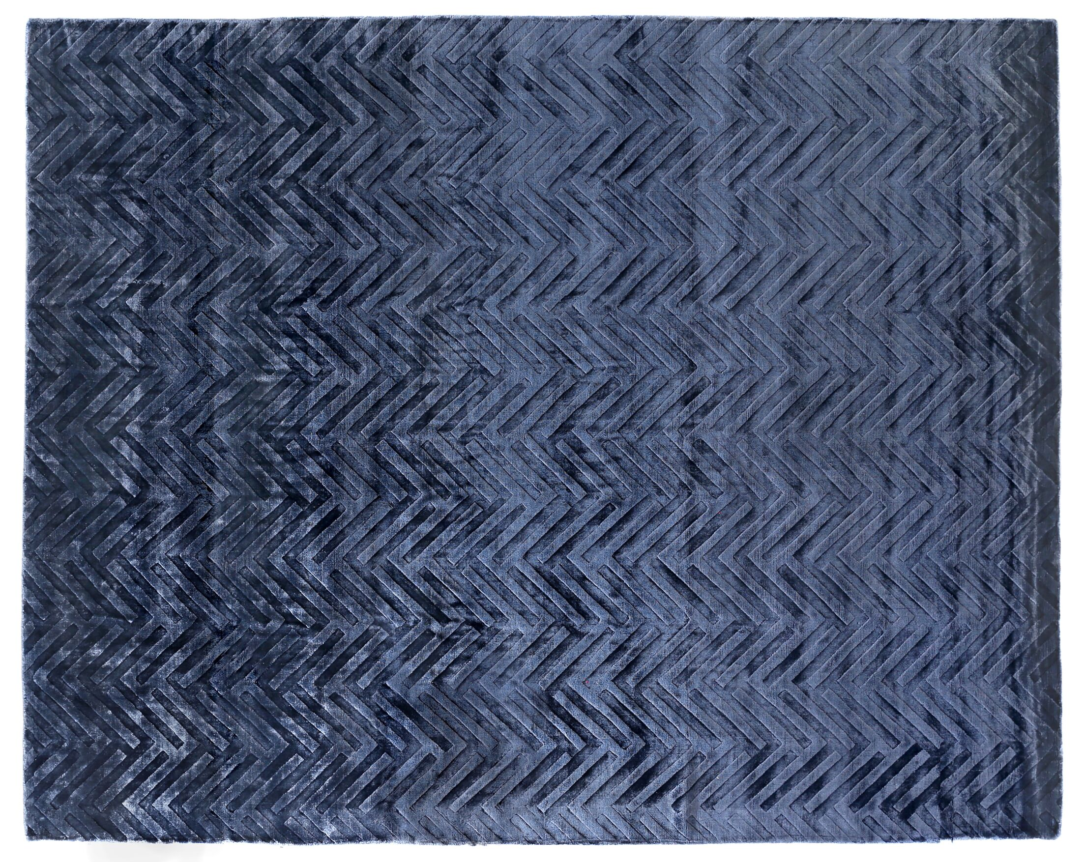 Smooch Carved Hand-Woven Blue Area Rug Rug Size: Rectangle 14' x 18'