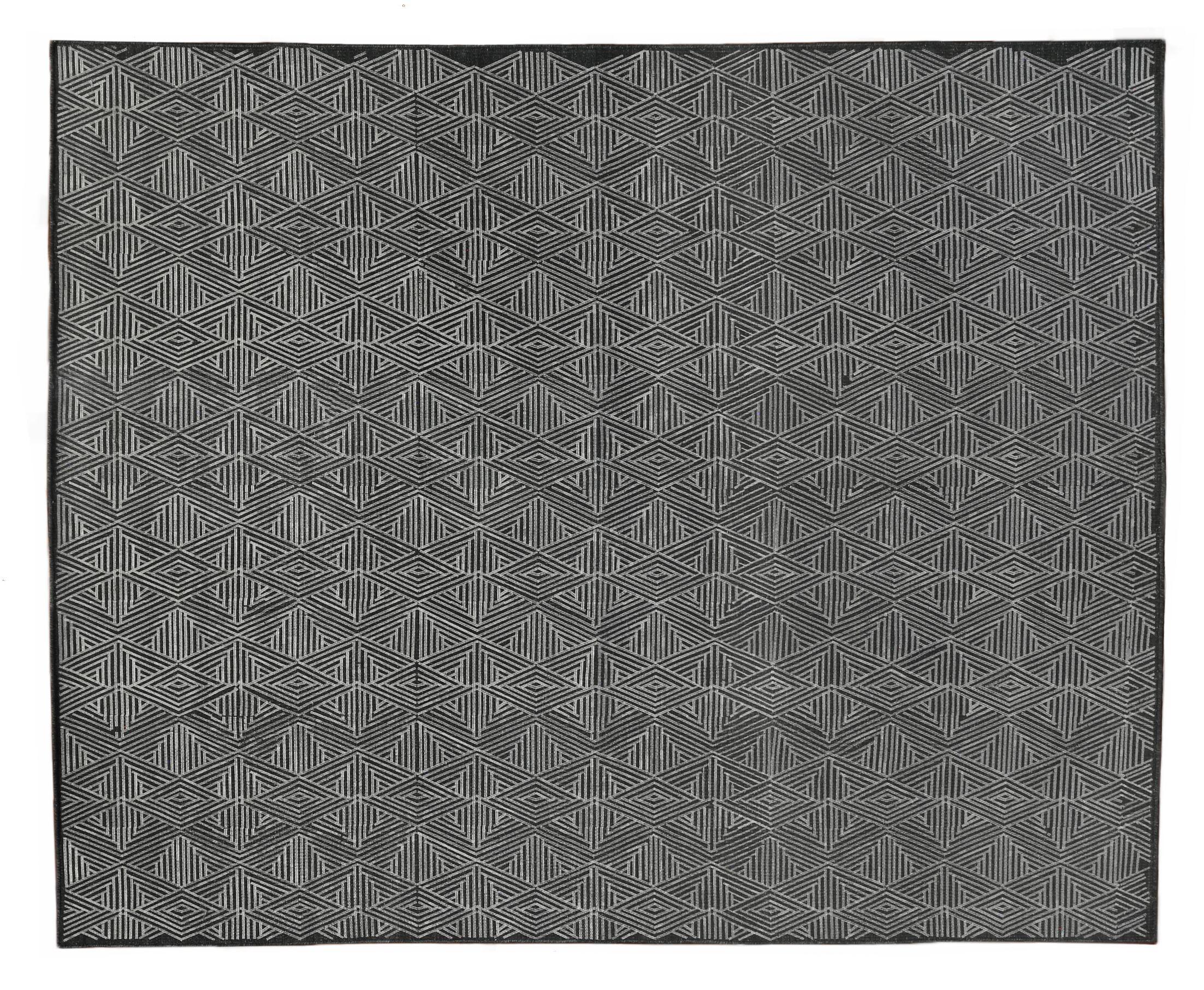 Pavillion Hand-Woven Wool Charcoal Area Rug Rug Size: Rectangle 5' x 8'