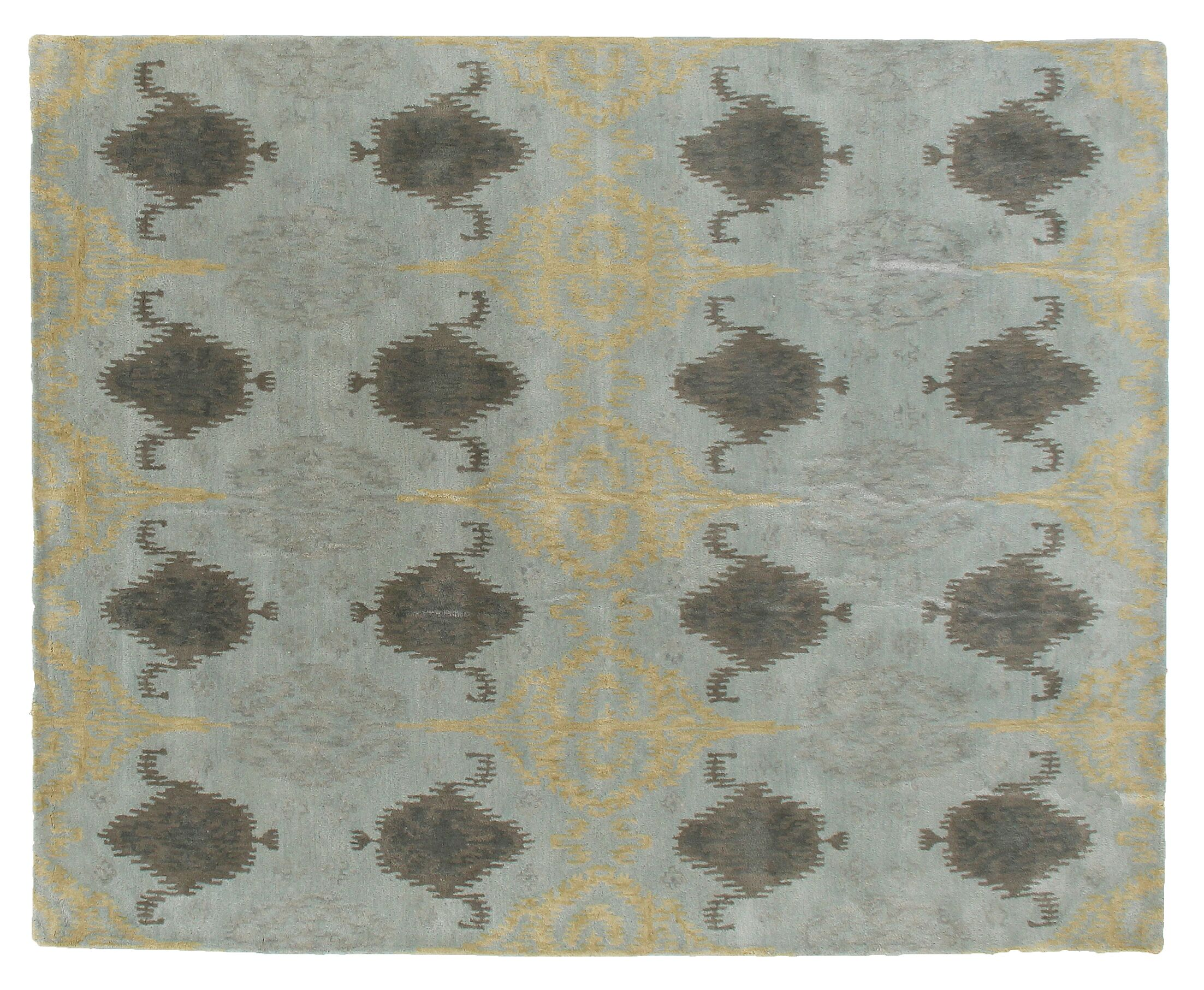 Baby Hand-Tufted Wool Blue Area Rug Rug Size: Rectangle 5' x 8'