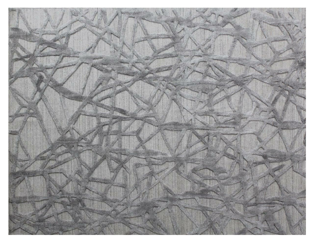 Windsor Hand-Woven Wool Gray Area Rug Rug Size: Rectangle 14' x 18'