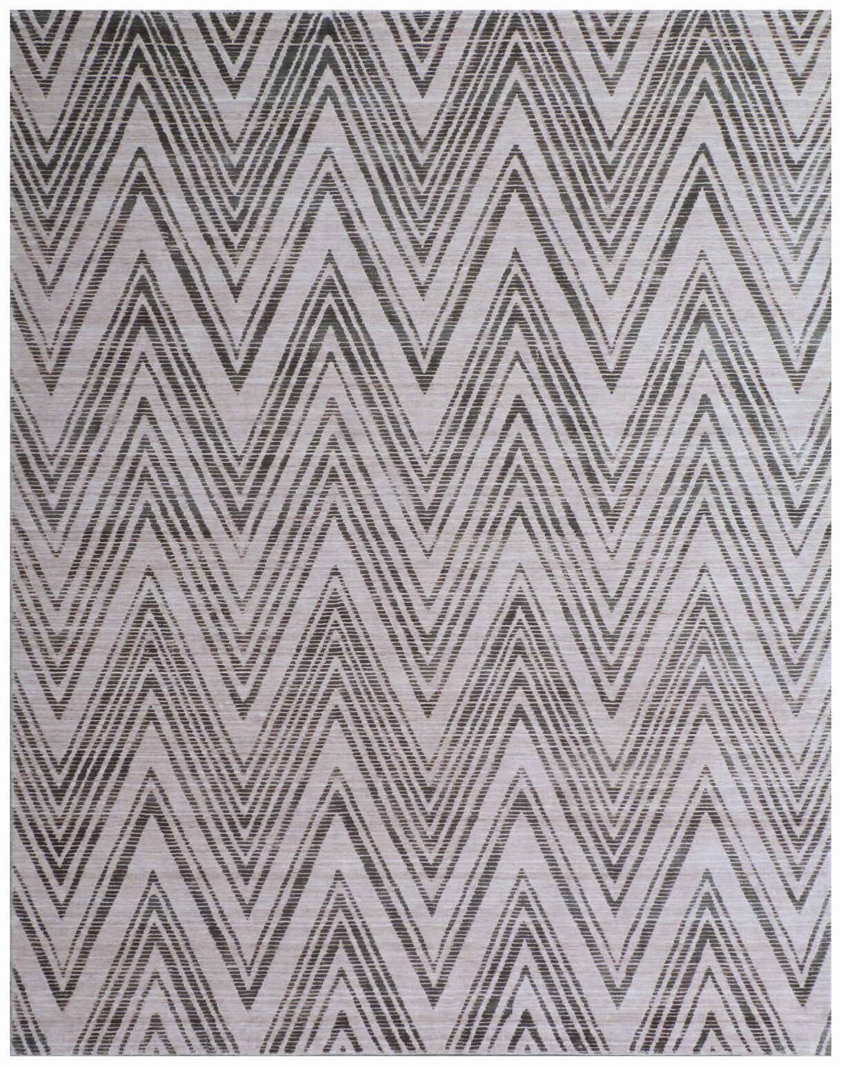 Reflections Hand-Woven Gray/Black Area Rug Rug Size: Rectangle 8' x 10'