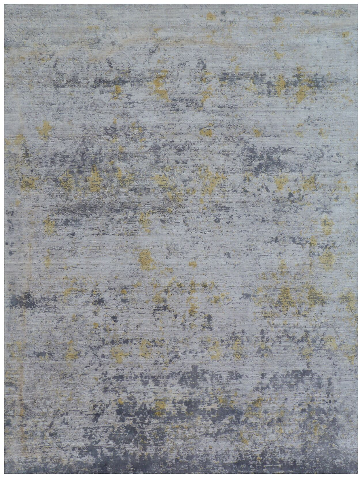 Reflections Hand-Woven Gray Area Rug Rug Size: Rectangle 10' x 14'