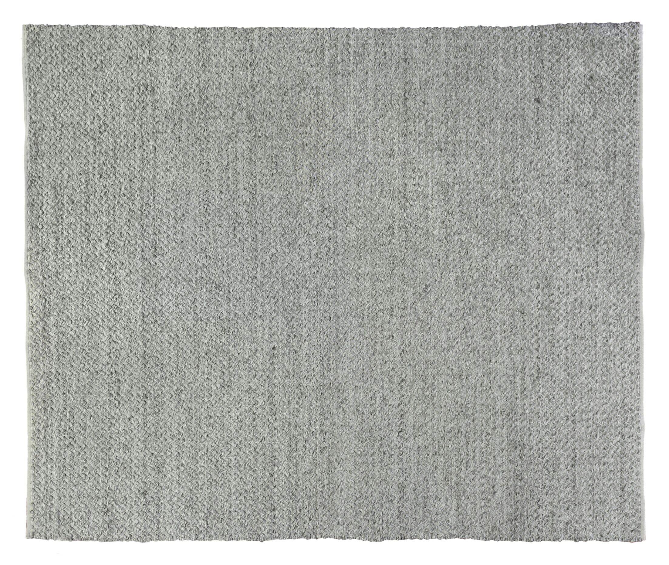 Rialto Hand-Woven Gray Area Rug Rug Size: Rectangle 12' x 15'