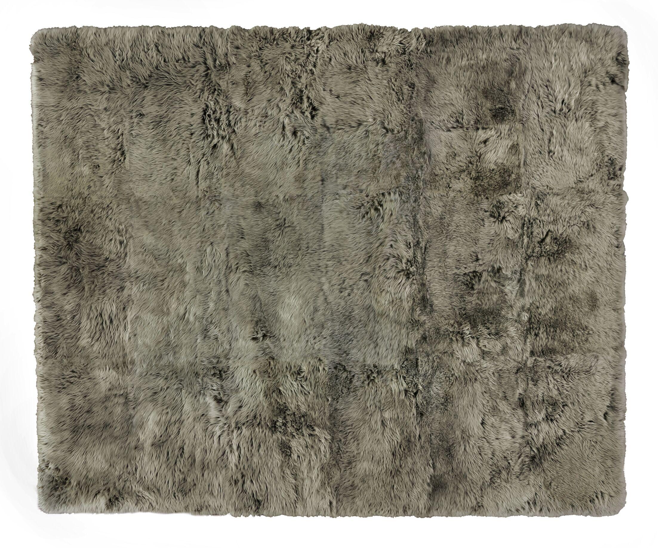 Hand woven Sheepskin Brown Area Rug Rug Size: Rectangle 13'6