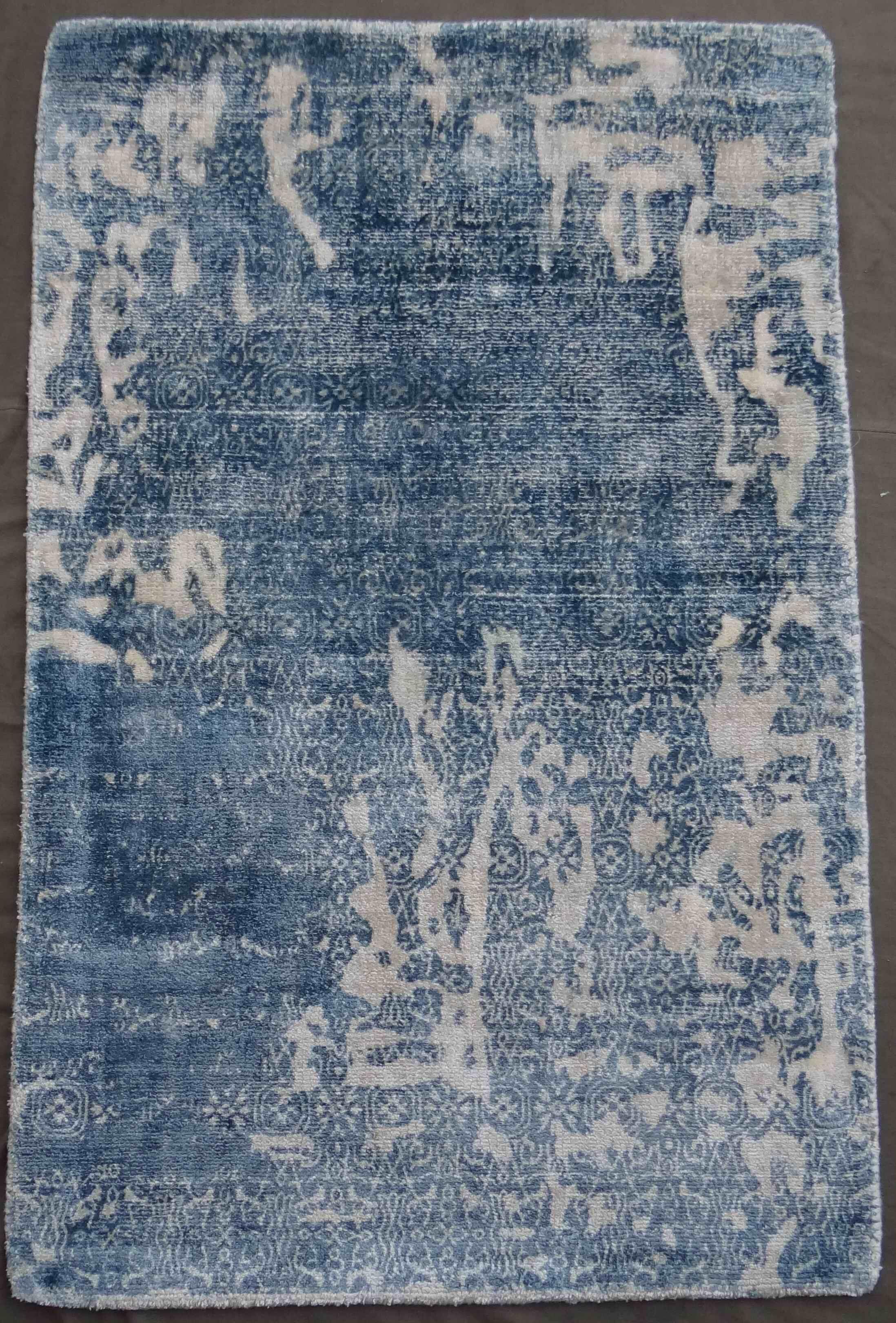 Carmen Hand-Woven Blue Area Rug Rug Size: Rectangle 6' x 9'