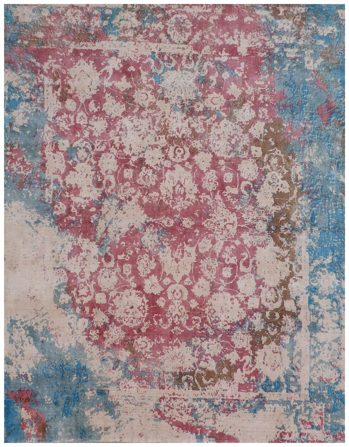 Antolini Hand-Woven Pink/Blue Area Rug Rug Size: Rectangle 8' x 10'
