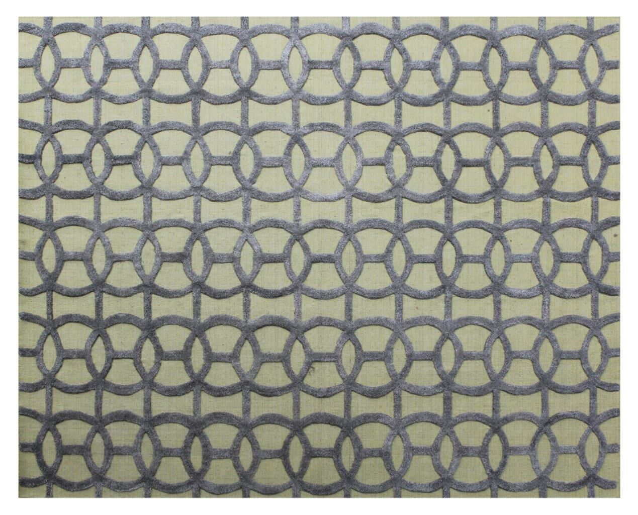 Windsor Hand-Woven Wool Blue/Beige Area Rug Rug Size: Rectangle 9' x 12'