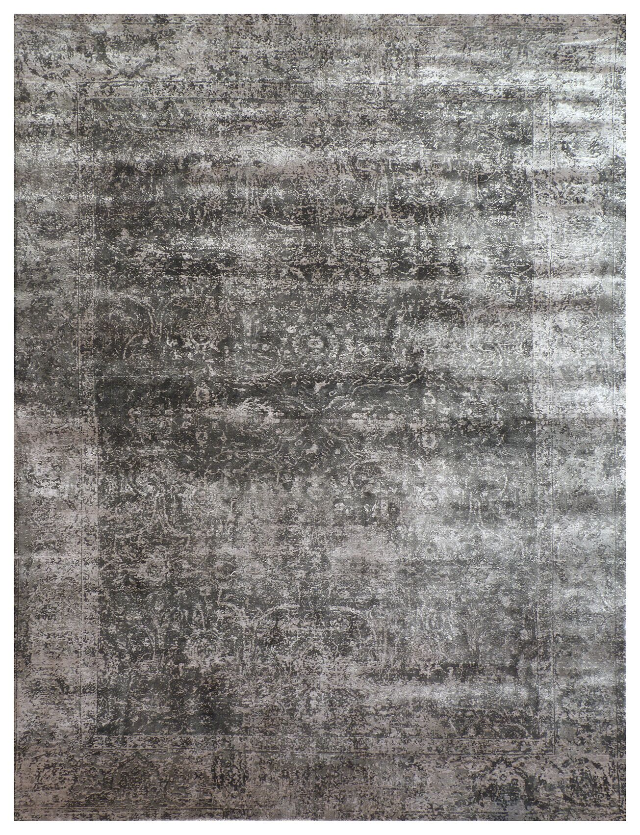 Cassina Hand-Woven Charcoal Area Rug Rug Size: Rectangle 12' x 15'
