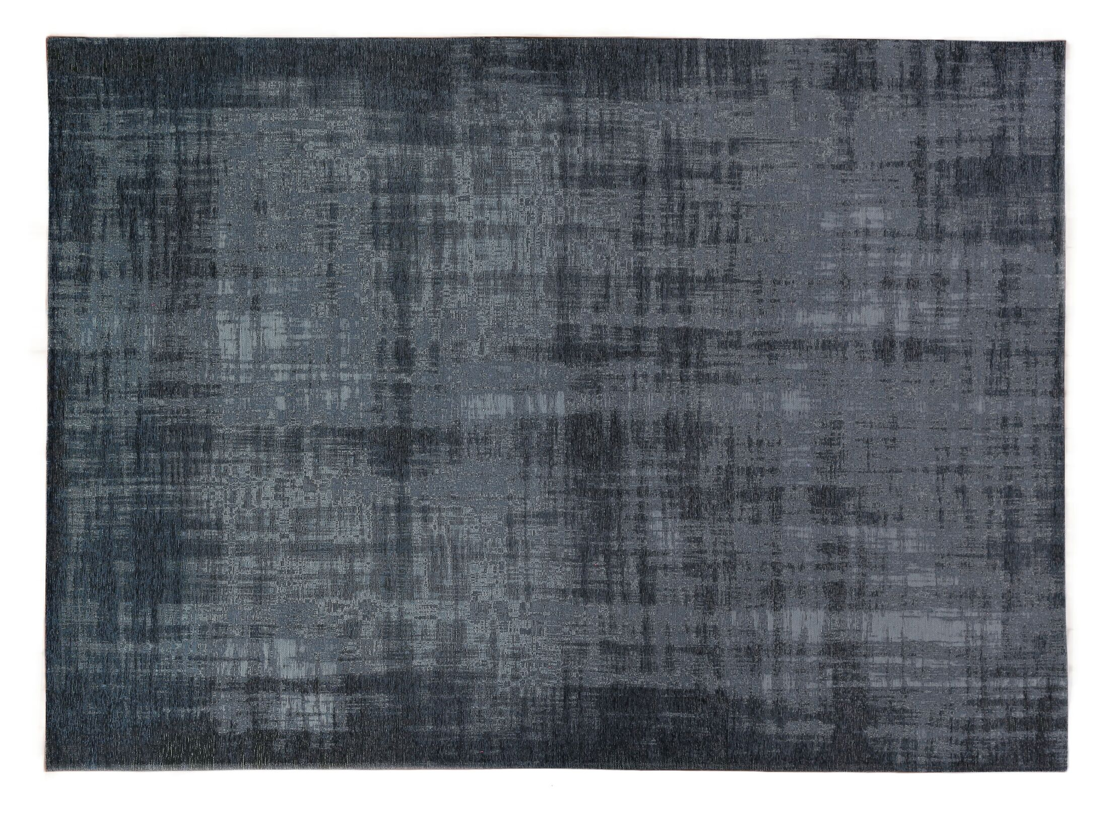 Zita Hand-Knotted Black/Gray Area Rug Rug Size: Rectangle 8' x 10'