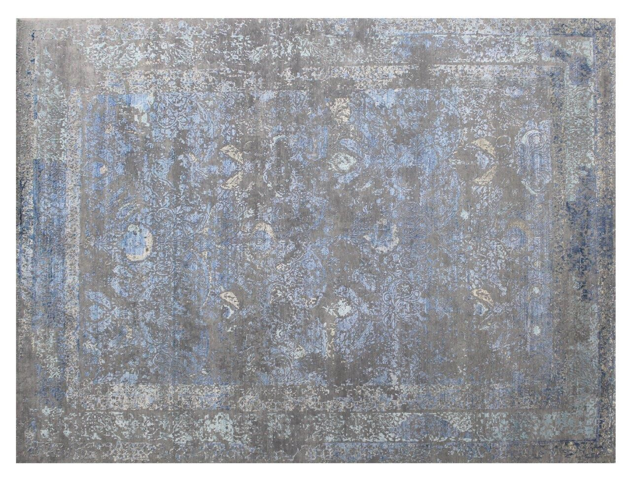 Maison Hand-Knotted Gray/Beige Area Rug Rug Size: Rectangle 9' x 12'