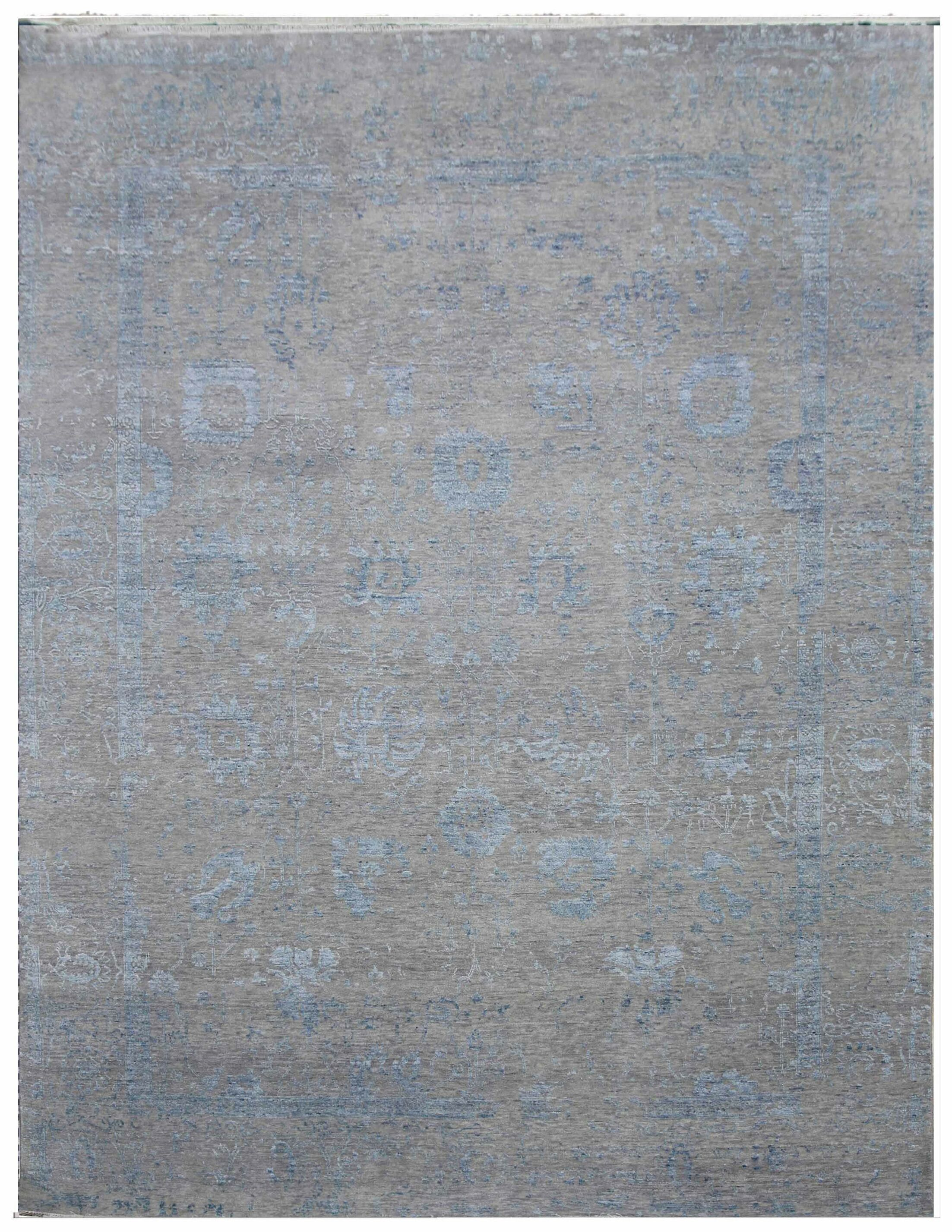 Lexington Hand-Knotted Wool Gray/Blue Area Rug Rug Size: Rectangle 6' x 9'