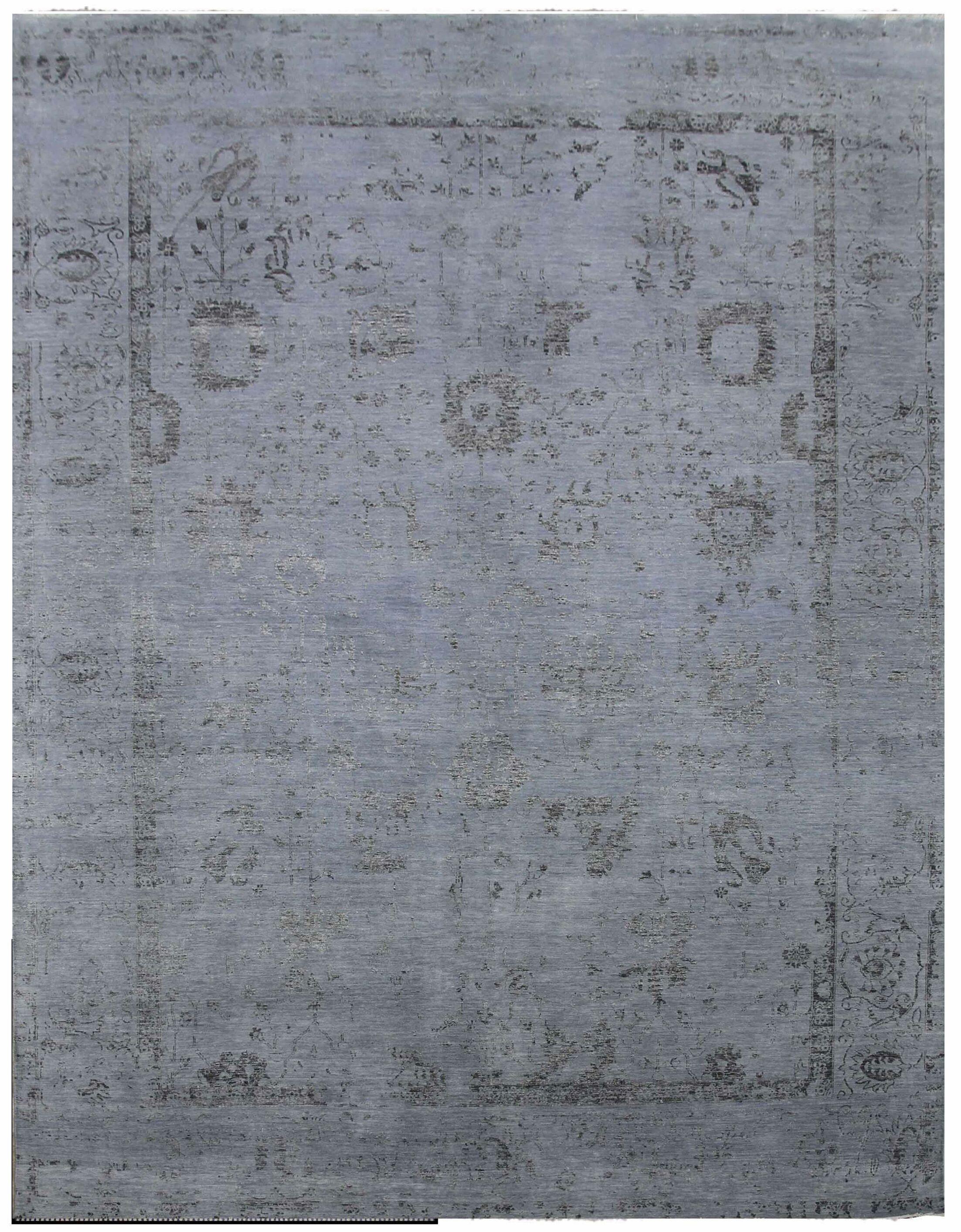 Lexington Hand-Knotted Blue/Black Area Rug Rug Size: Rectangle14' x 18'