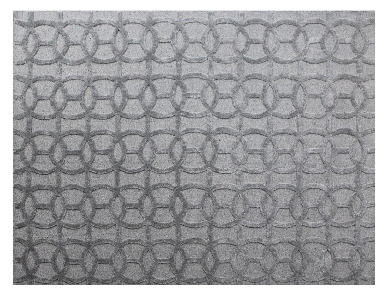 Windsor Hand-Woven Wool Gray Area Rug Rug Size: Rectangle6' x 9'