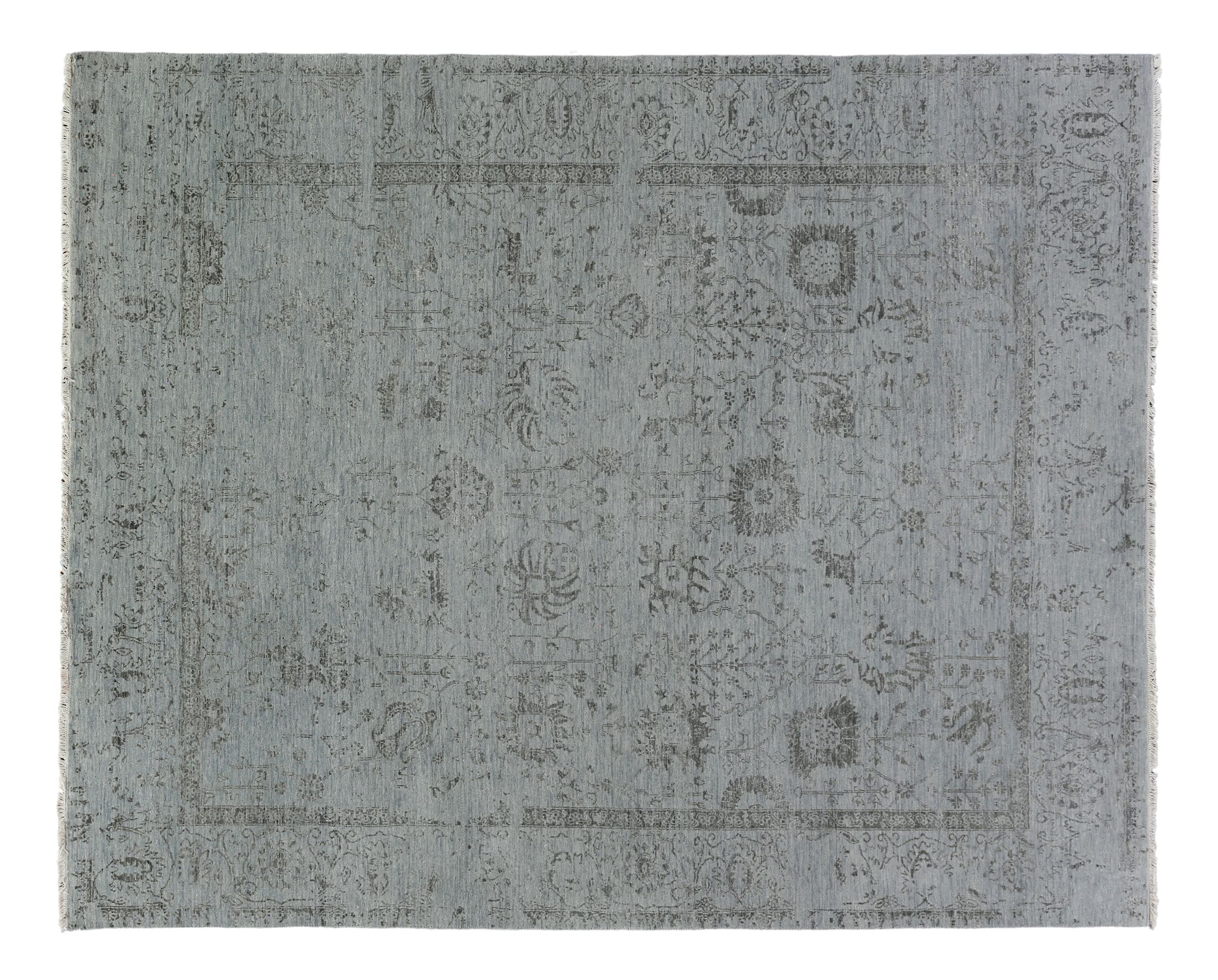 Lexington Hand-Knotted Gray/Black Area Rug