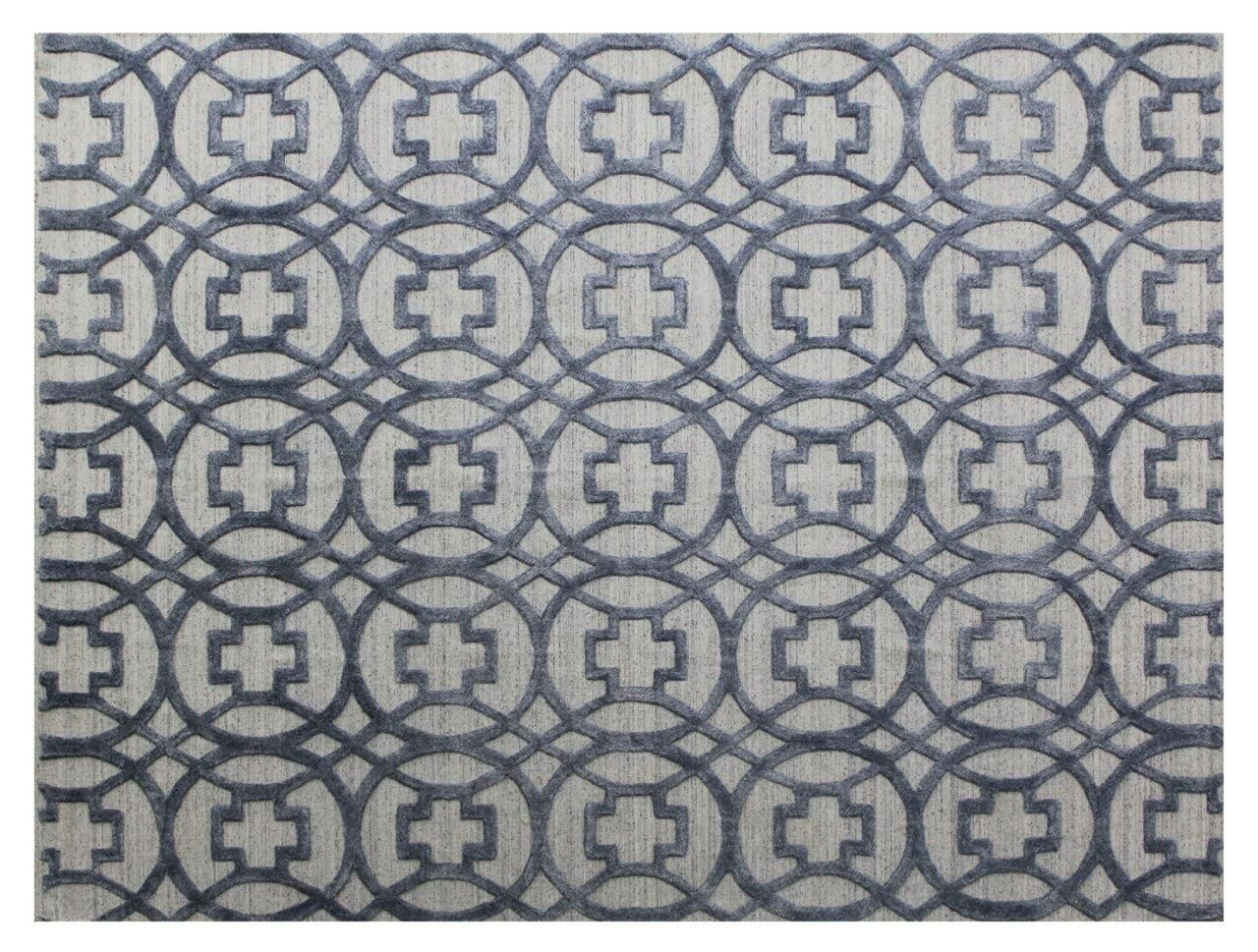 Windsor Hand-Woven Wool Blue/Gray Area Rug Rug Size: Rectangle 12' x 15'
