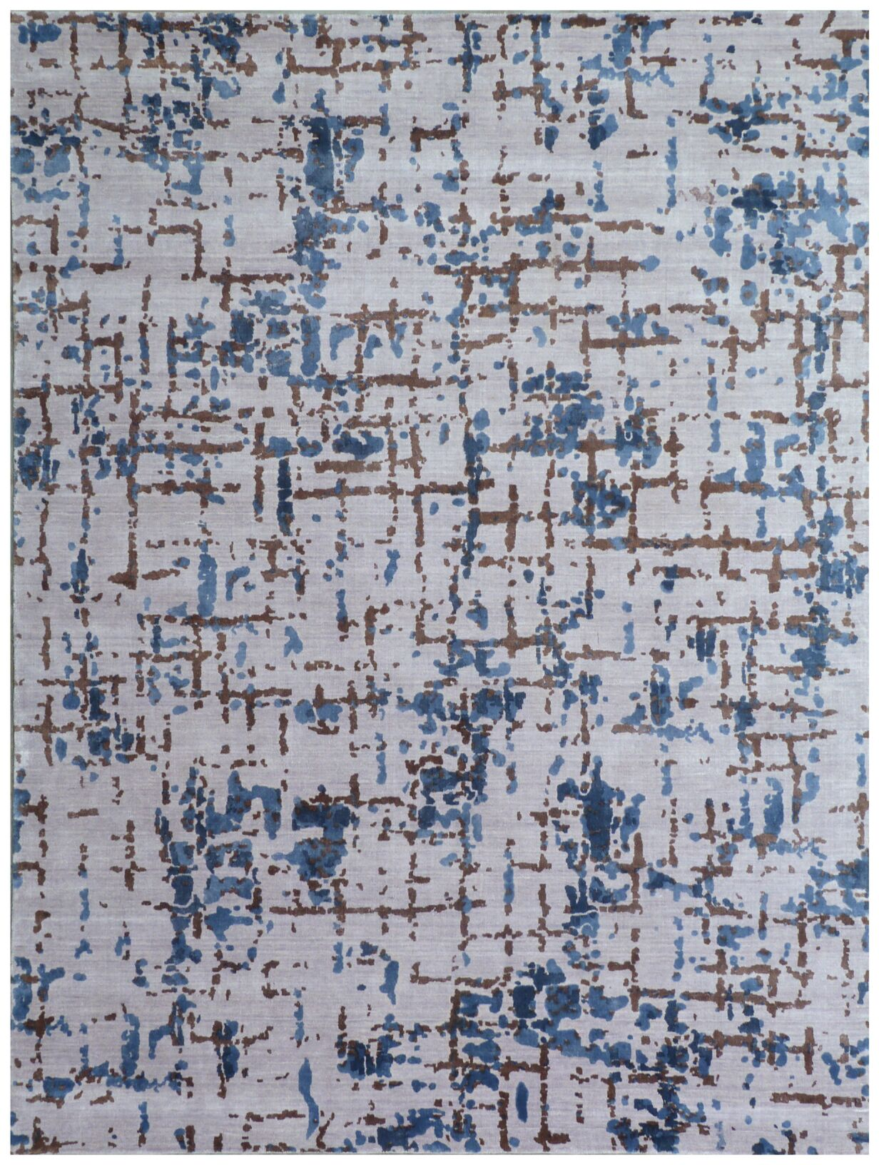 Antolini Hand-Woven Gray/Blue Area Rug Rug Size: Rectangle 6' x 9'