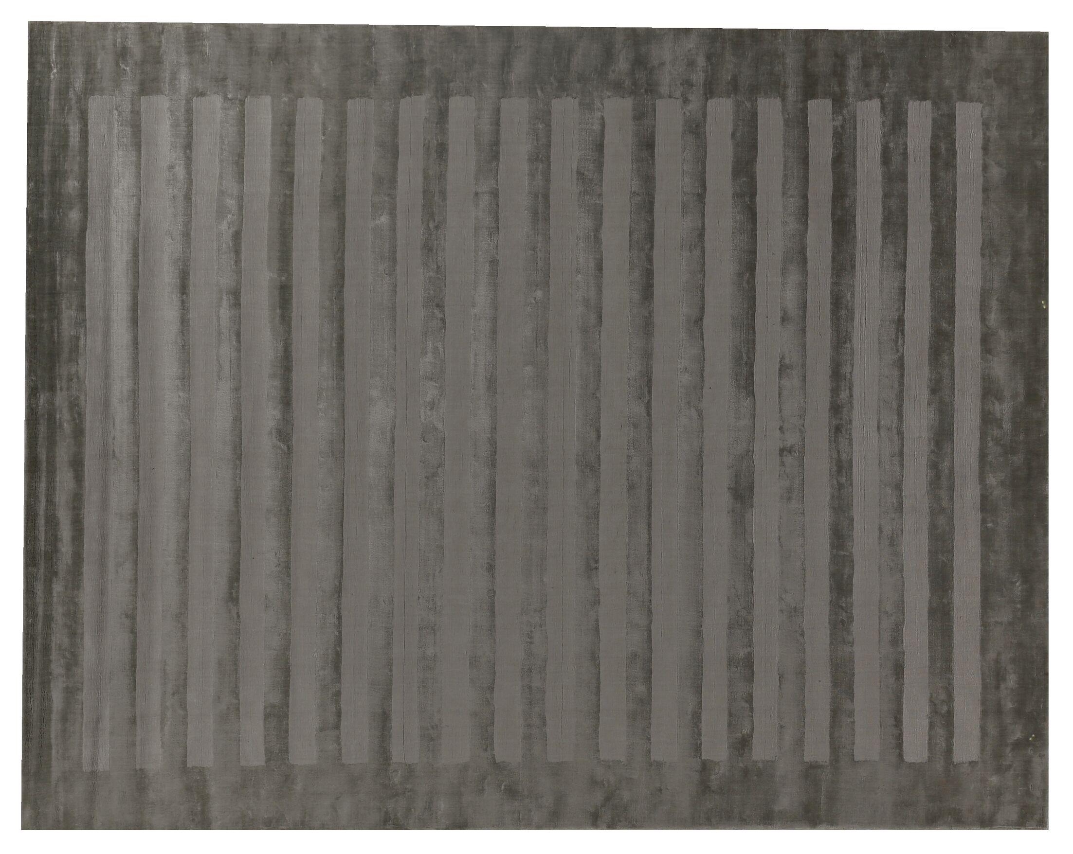 Hand-Woven Gray Area Rug Rug Size: Rectangle 14' x 18'