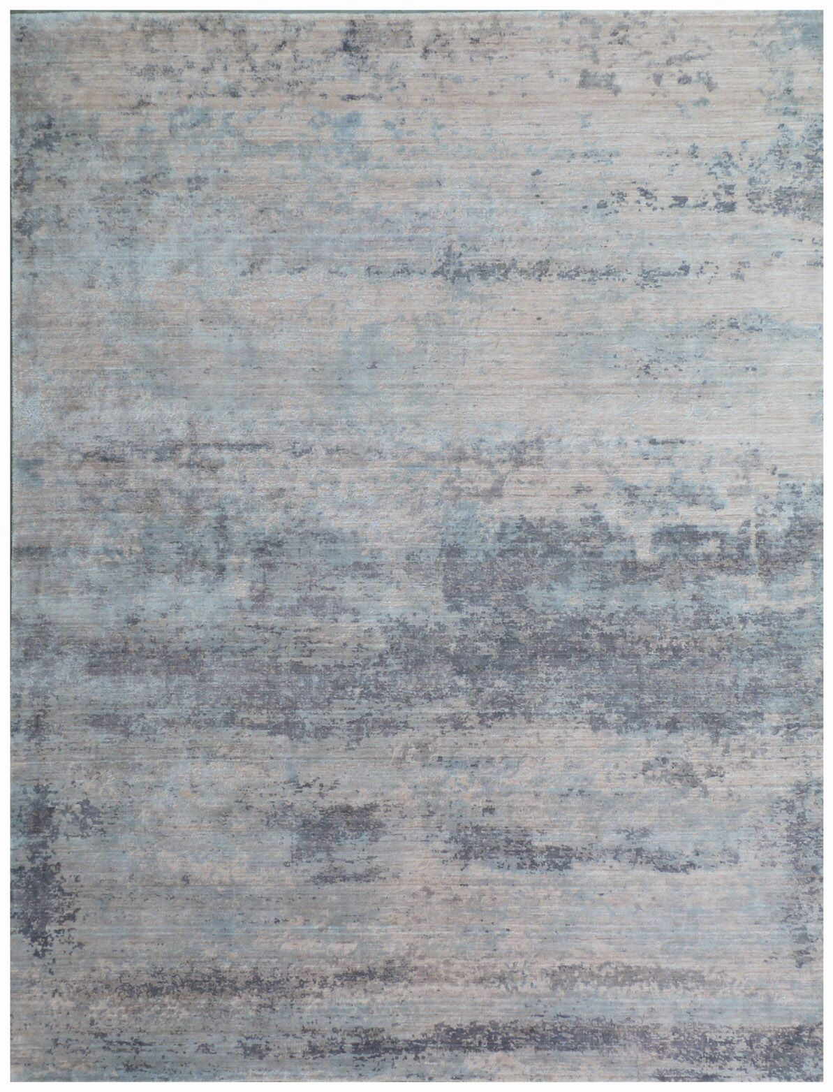 Roset Hand-Woven Silver Area Rug Rug Size: Rectangle 6' x 9'