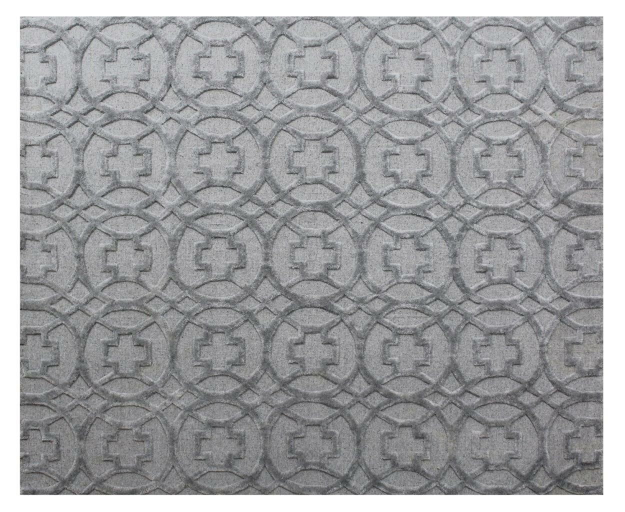 Windsor Hand-Woven Wool Gray Area Rug Rug Size: Rectangle 10' x 14'