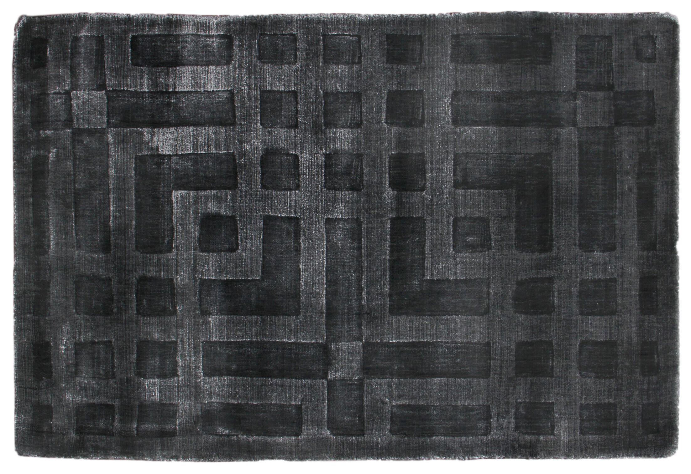 Hazel Hand-Woven Dark Gray Area Rug Rug Size: Rectangle 10' x 14'