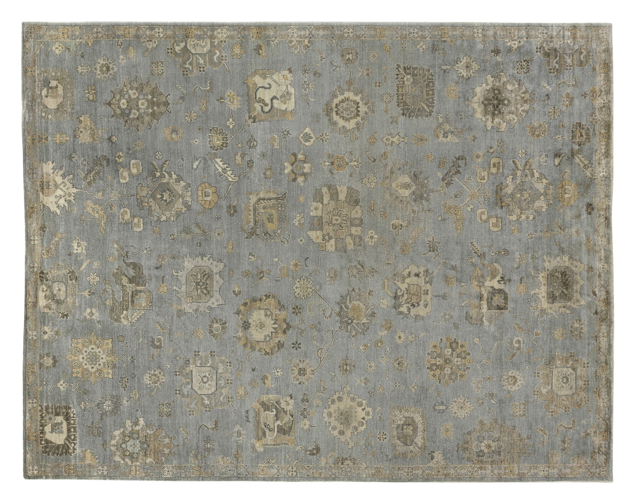 Museum Hand-Knotted Brown/Gray Area Rug Rug Size: Rectangle 14' x 18'