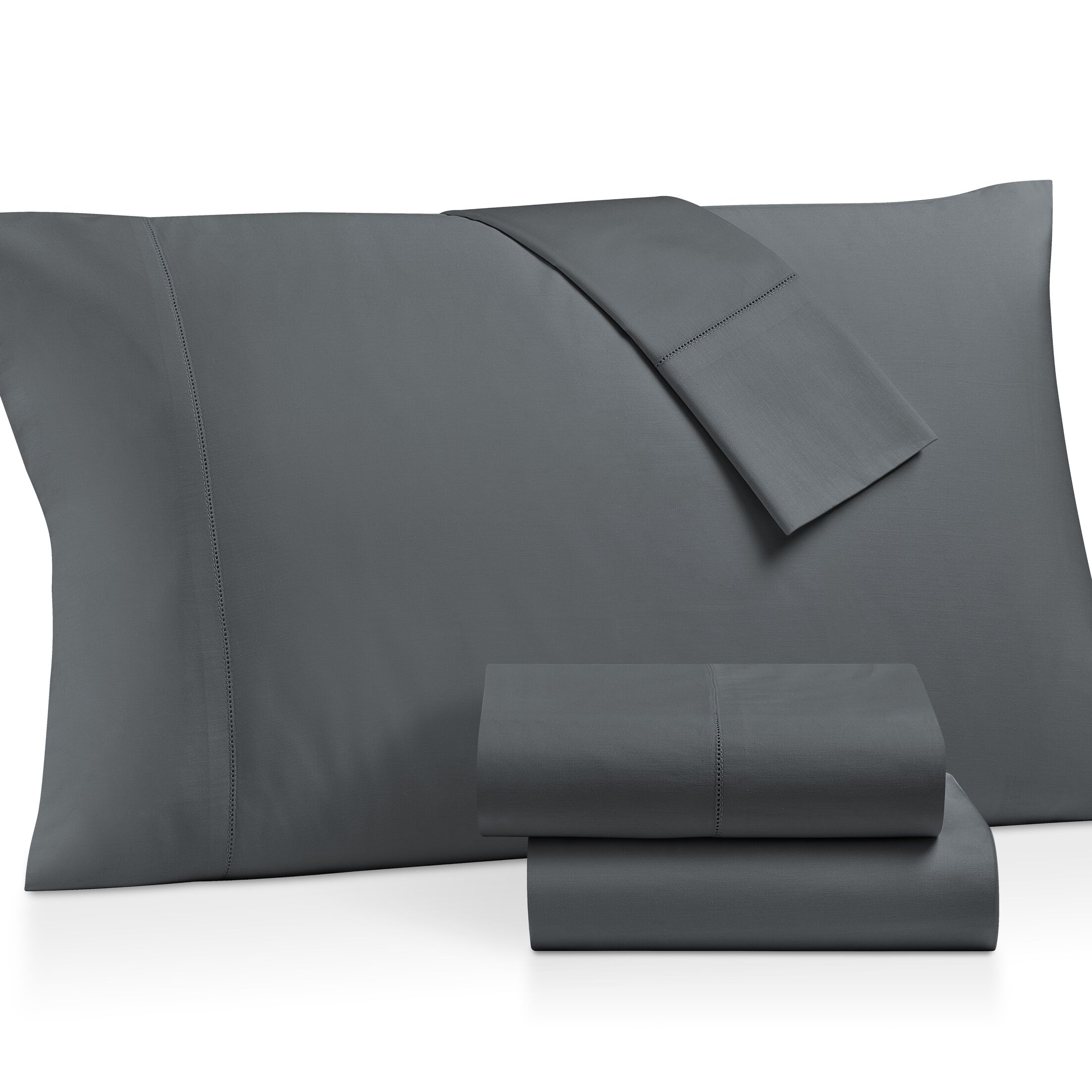 Gerrard Egyptian Quality 300 Thread Count 100% Cotton 4 Piece Sheet Set Size: King, Color: Gray