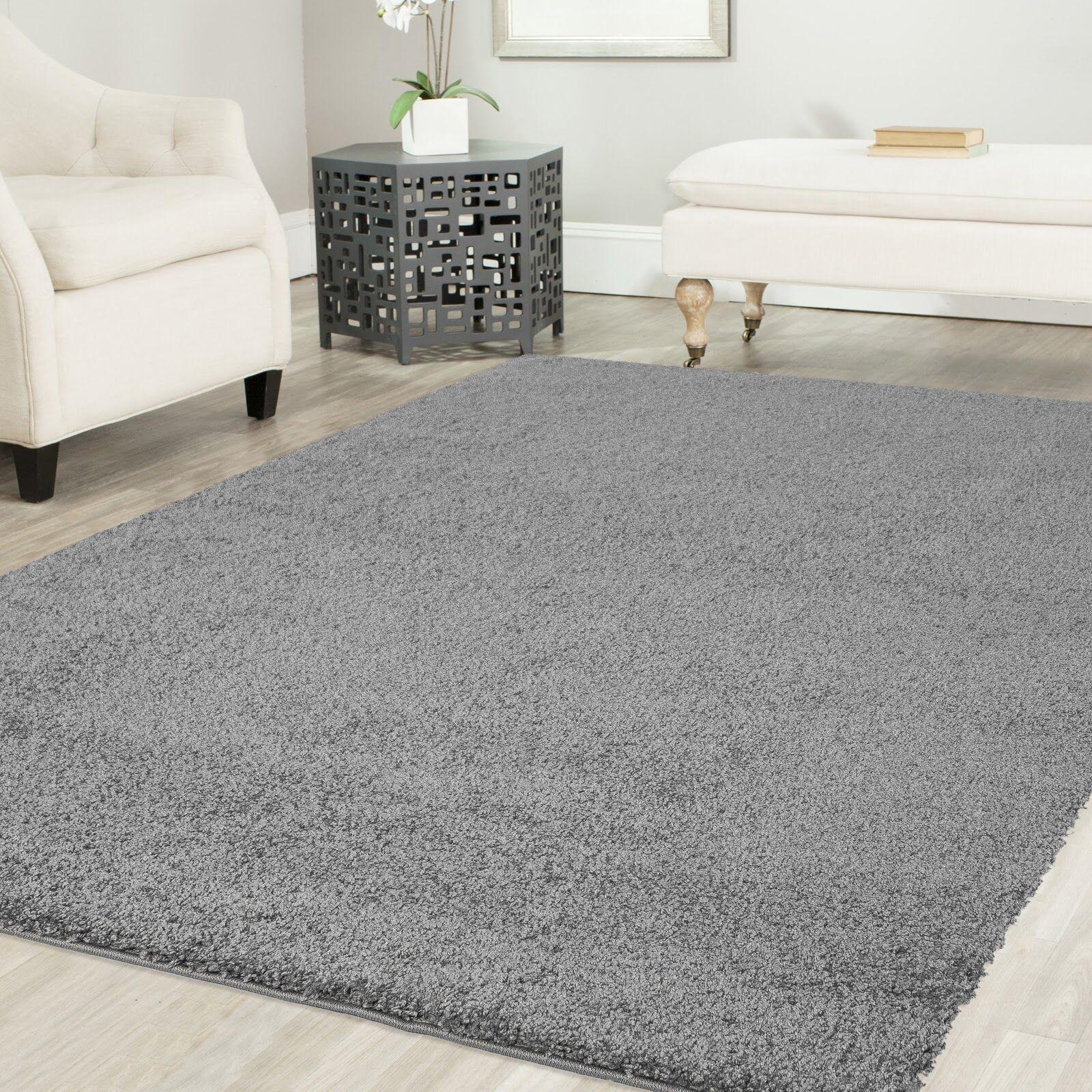 Gassin Shag Gray Area Rug Rug Size: Rectangle 5' x 8'
