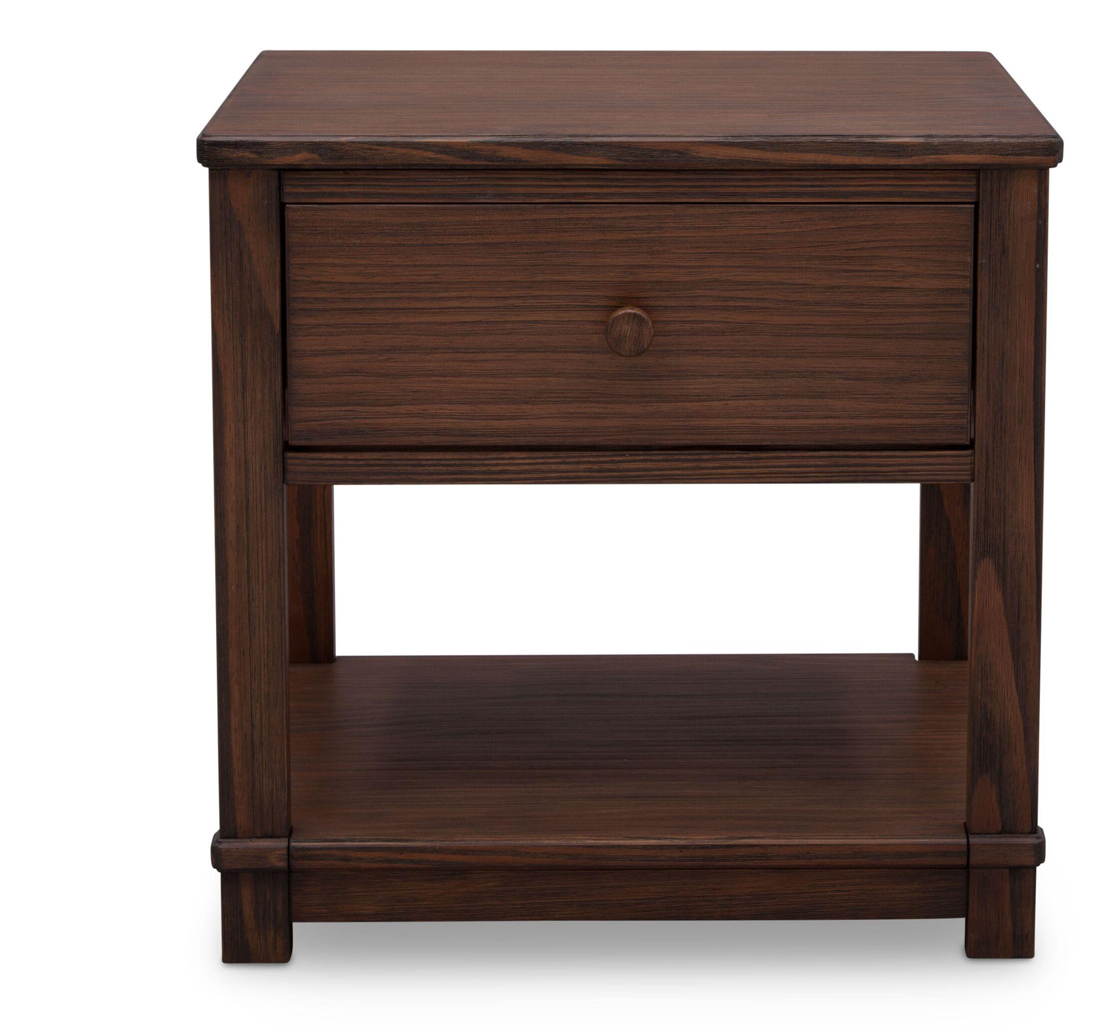 Langston 1 Drawer Nightstand Color: Rustic Oak