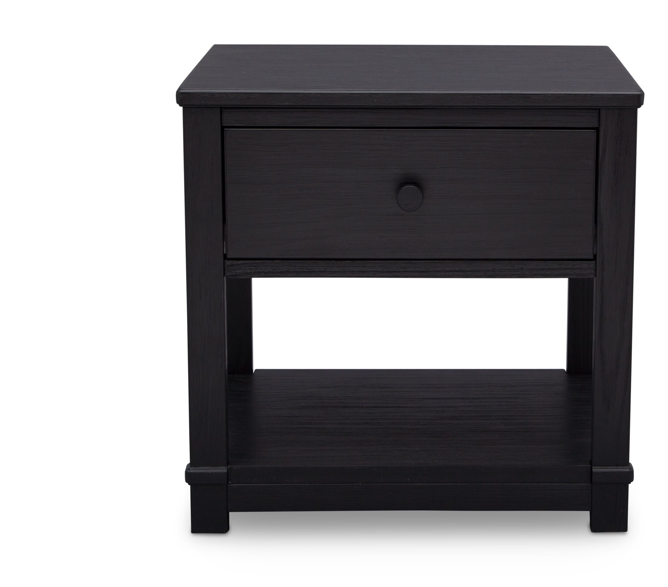 Langston 1 Drawer Nightstand Color: Rustic Ebony