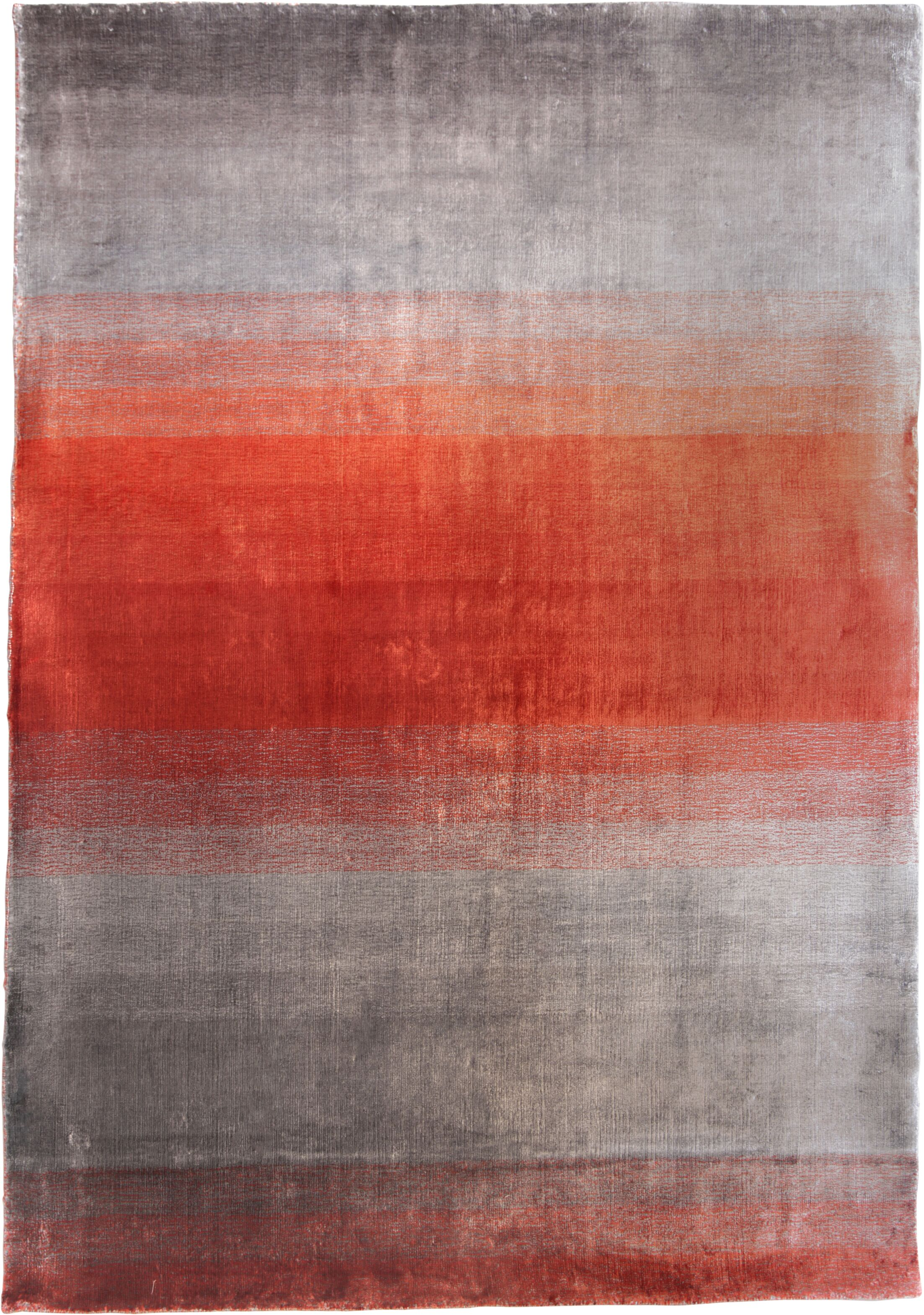 Grace Rouge Red Stripes Area Rug Rug Size: 6'6