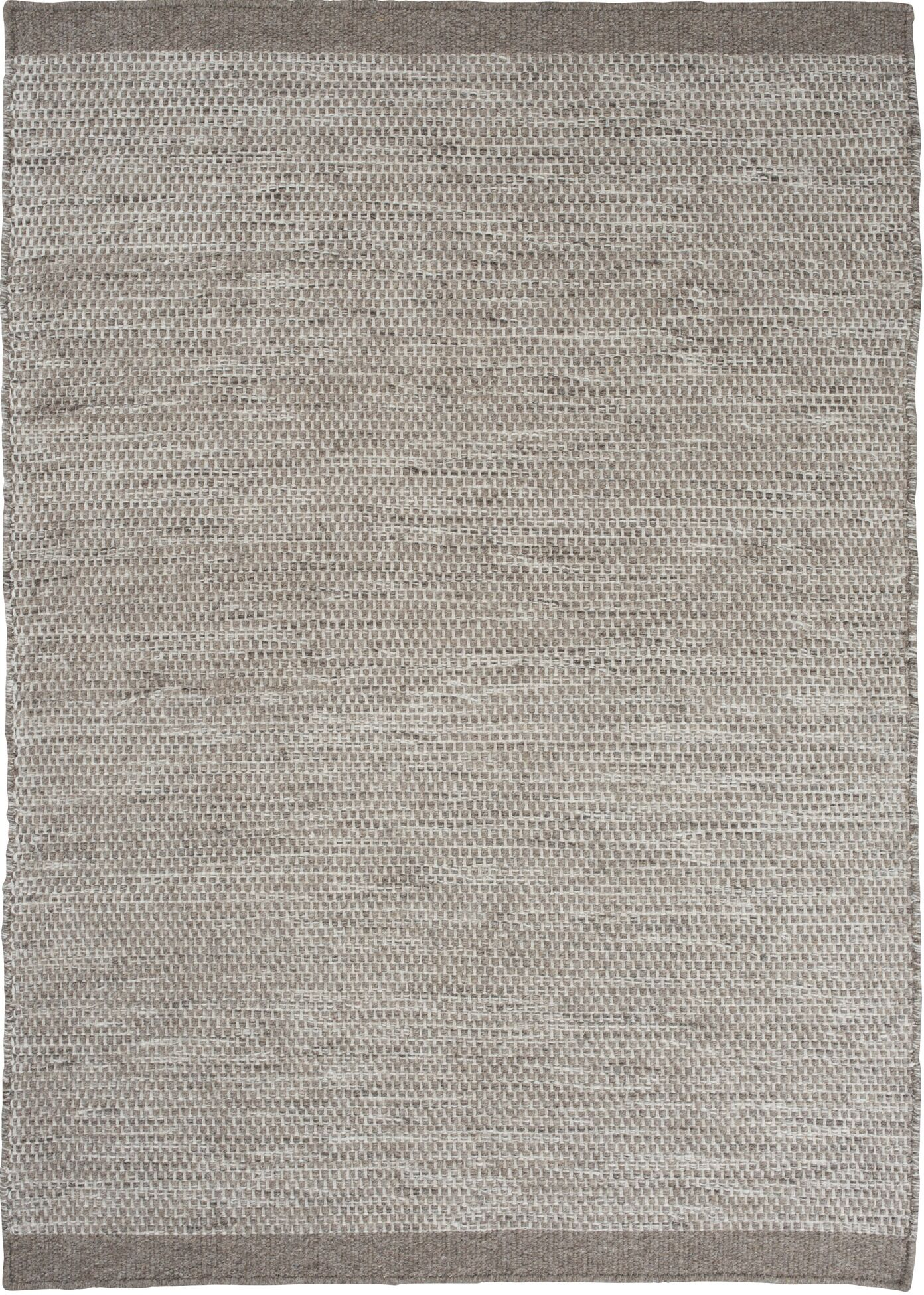 Mariya Hand Woven Wool Light Gray Area Rug Rug Size: 6'6