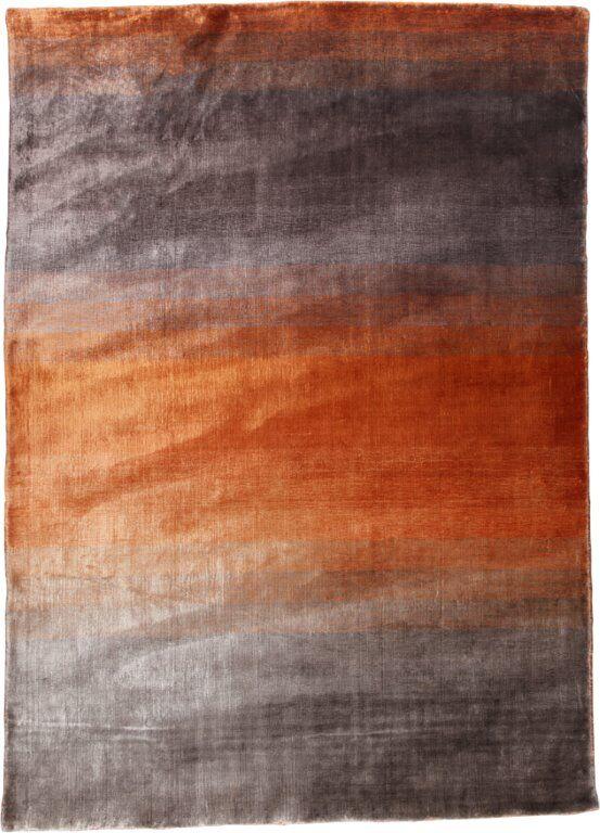 Grace Orange Area Rug Rug Size: 5'7
