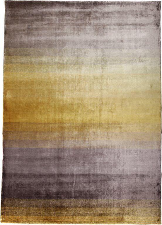 Grace Yellow Stripe Area Rug Rug Size: 5'7