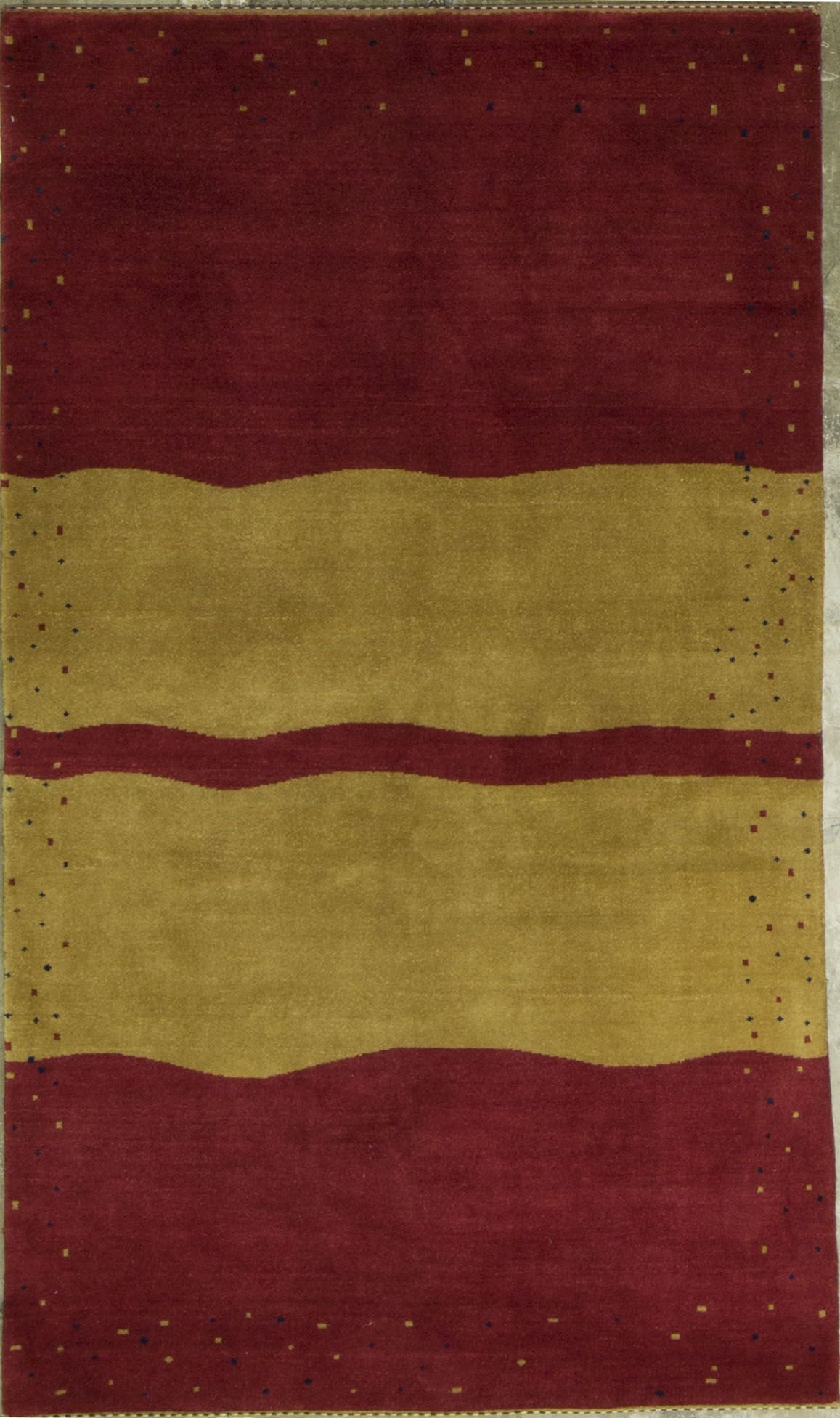 Gabbeh Hand-Knotted Wool Red/Yellow Area Rug