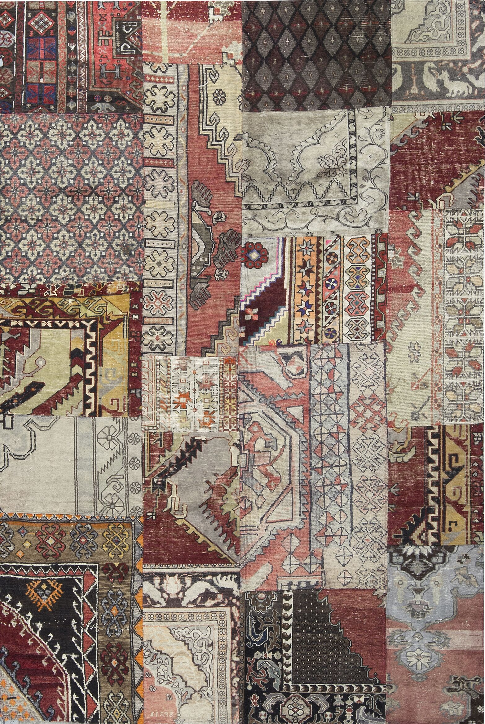 One-of-a-Kind Turkish Hand-Knotted Wool Beige/Ivory Area Rug