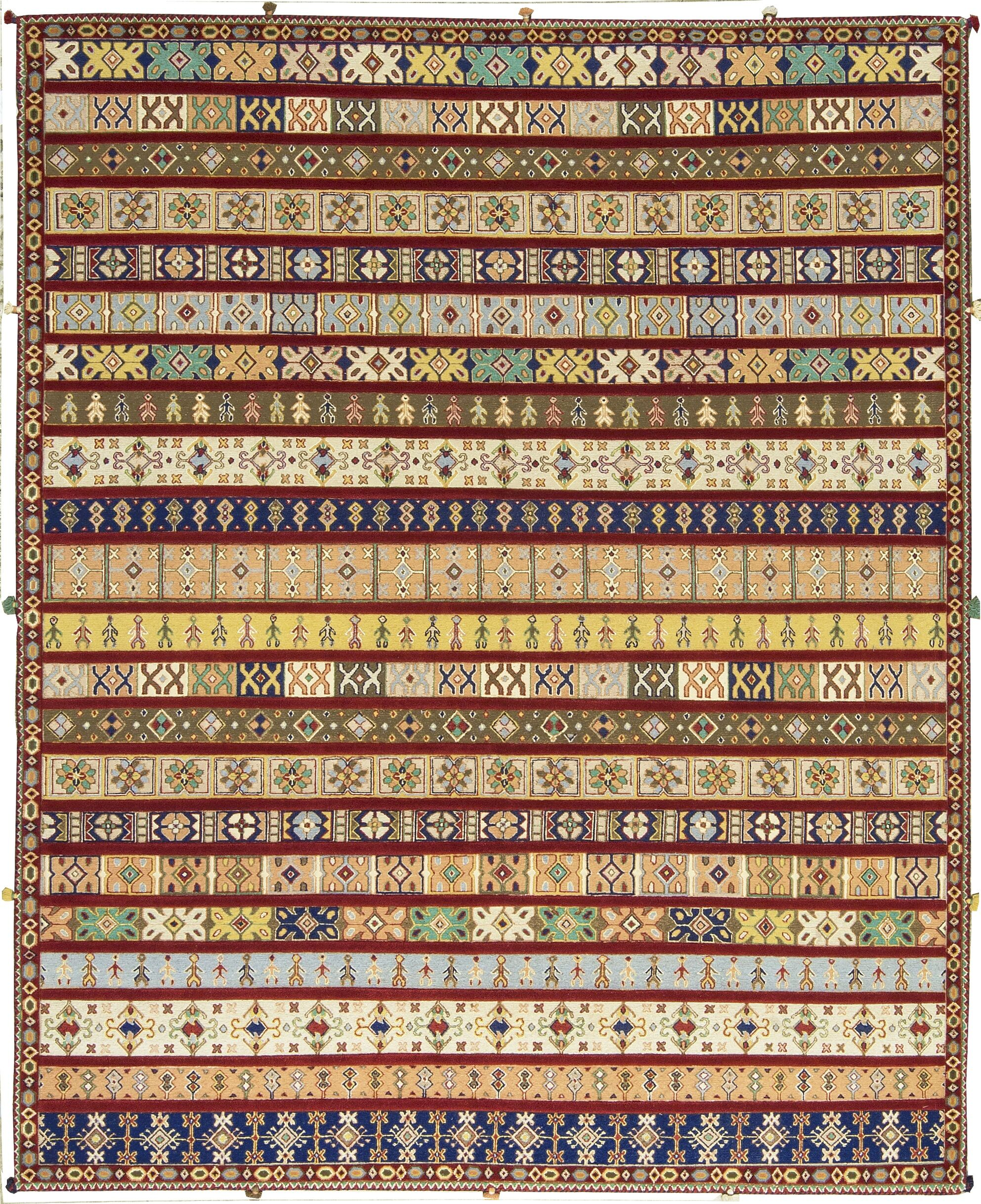 One-of-a-Kind Hand-Knotted Wool Red Area Rug