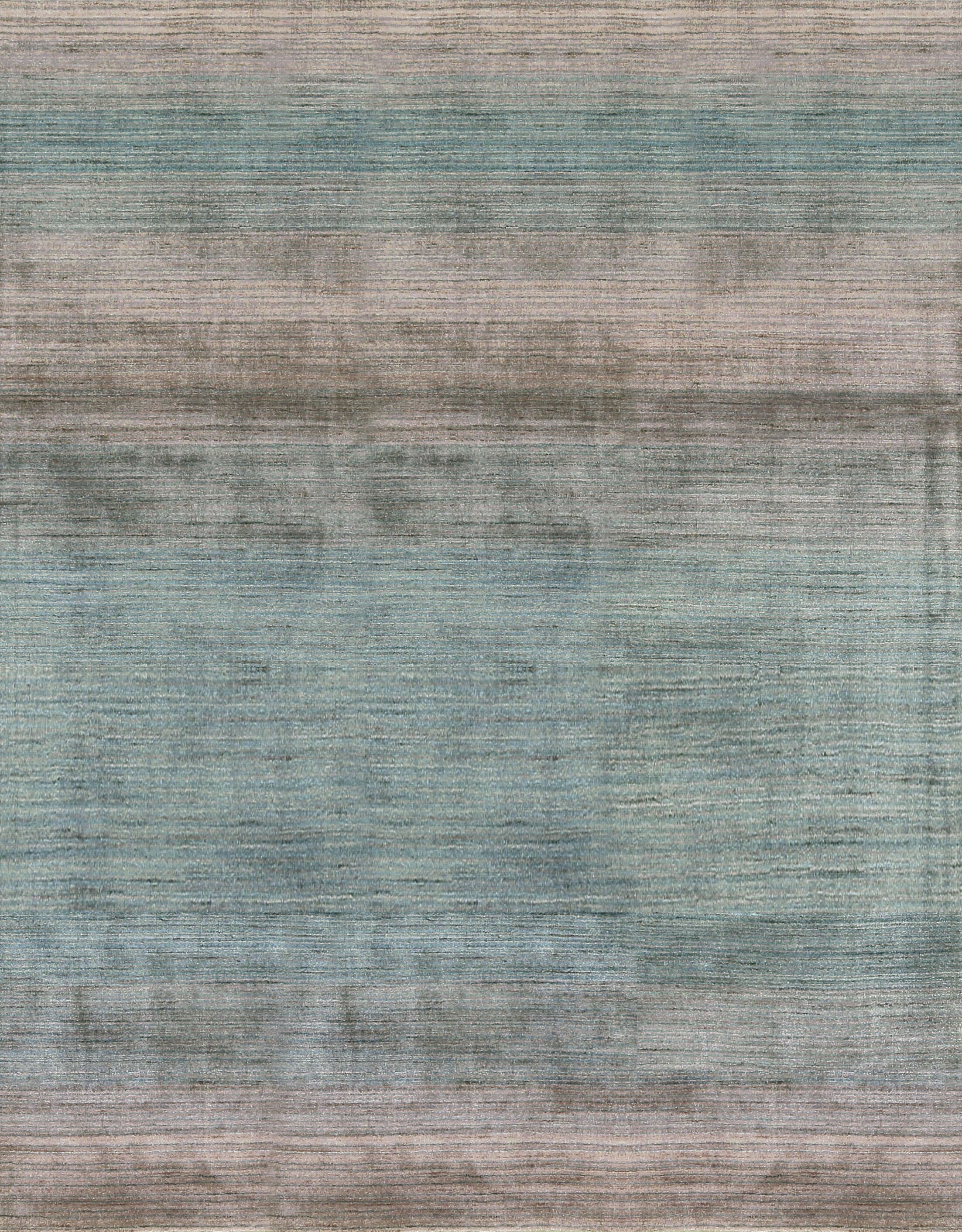 One-of-a-Kind Hand-Knotted Gray Area Rug