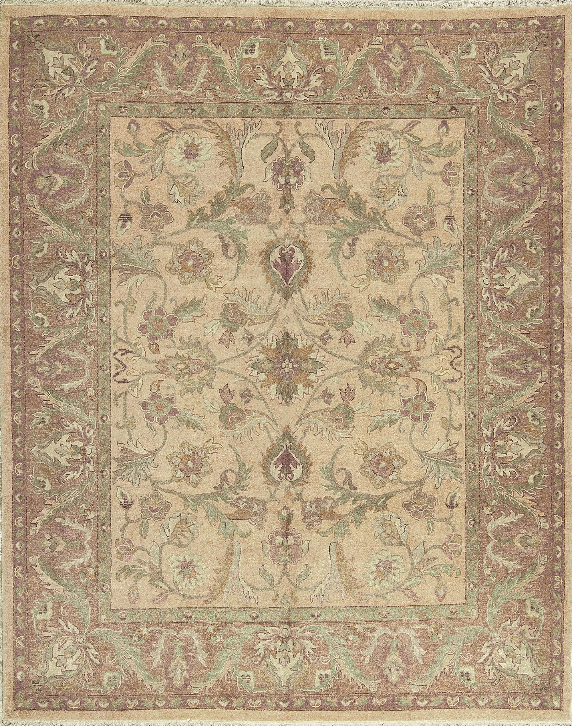 One-of-a-Kind Sultanabad Hand-Knotted Wool Beige/Green Area Rug