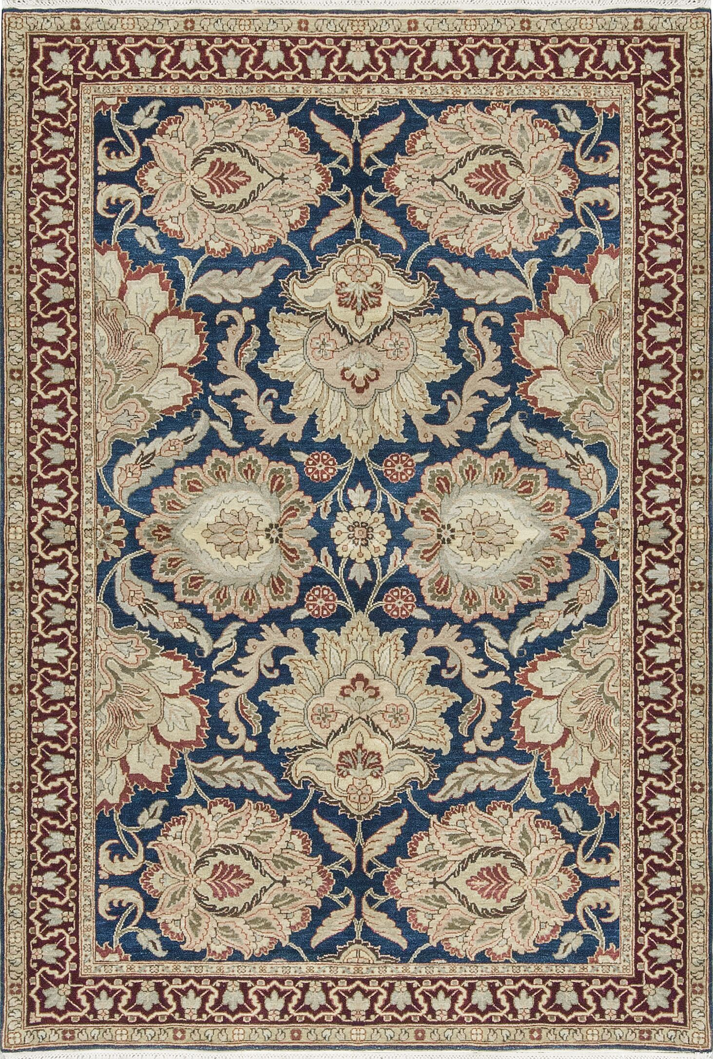 One-of-a-Kind Magnolia Hand-Knotted Wool Beige Indoor Area Rug