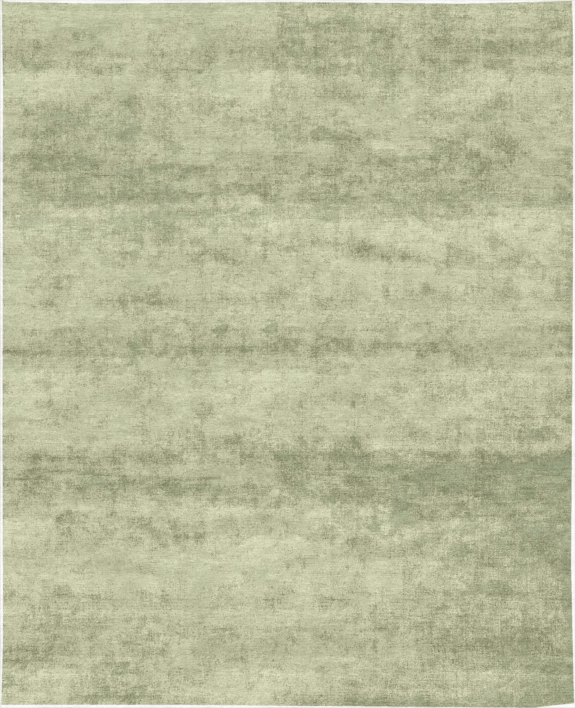 One-of-a-Kind Hand-Knotted Light Green Indoor Area Rug