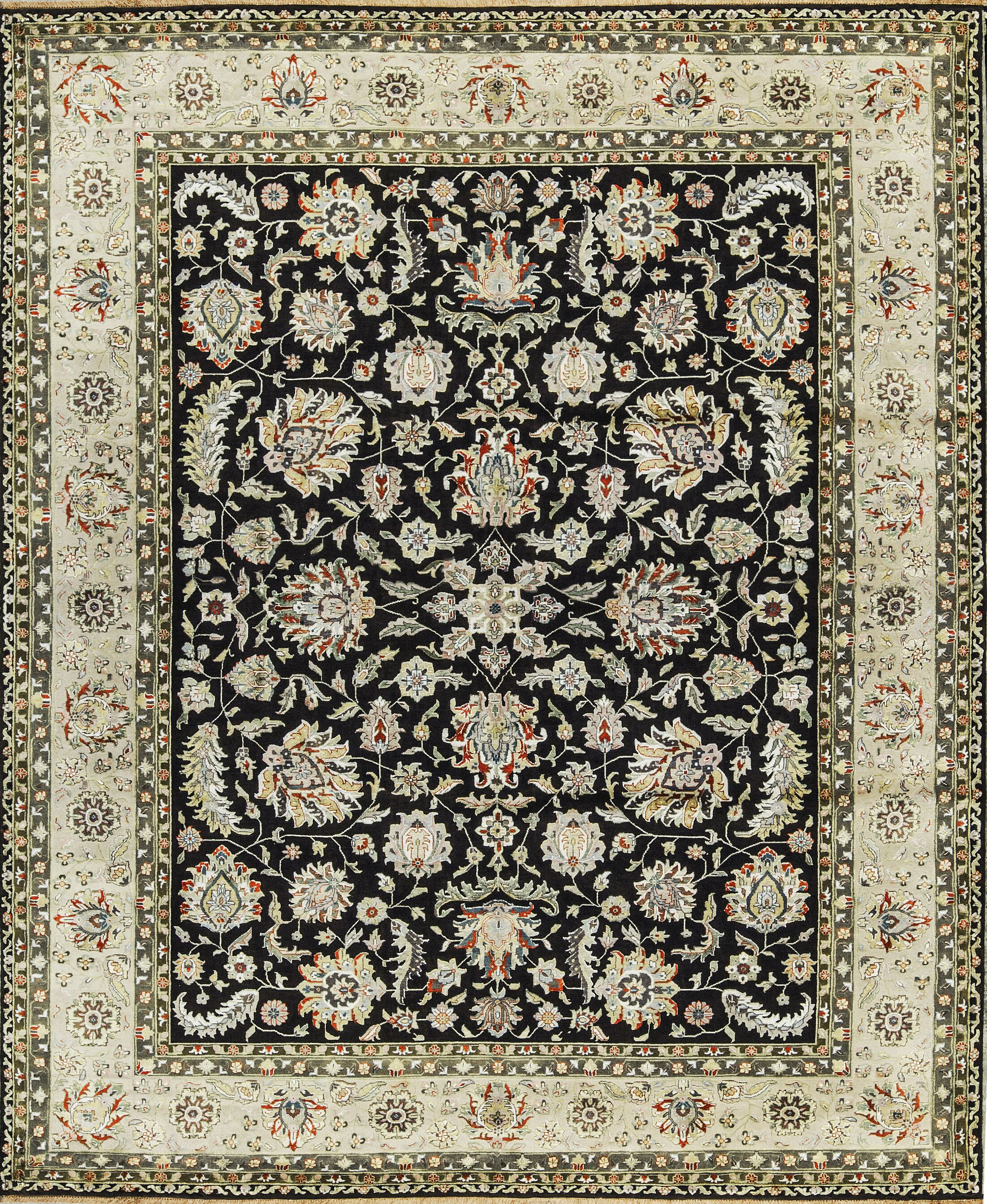 One-of-a-Kind Hand-Knotted Brown/Ivory Indoor Area Rug