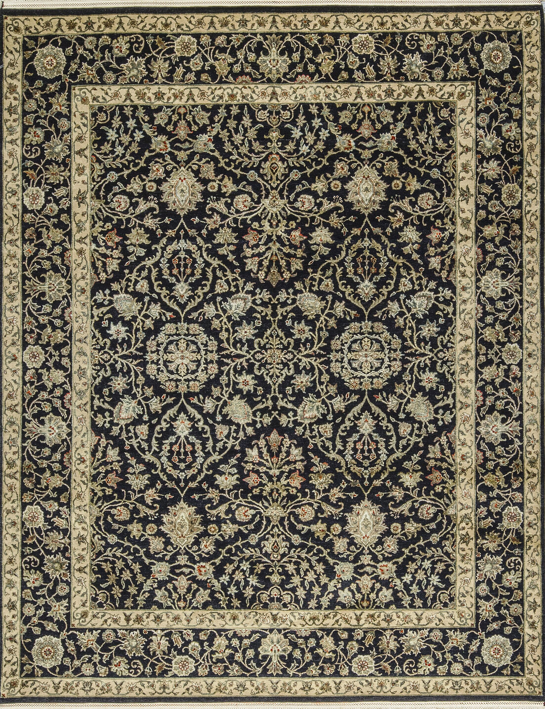 One-of-a-Kind Handwoven Wool Black/Beige Indoor Area Rug
