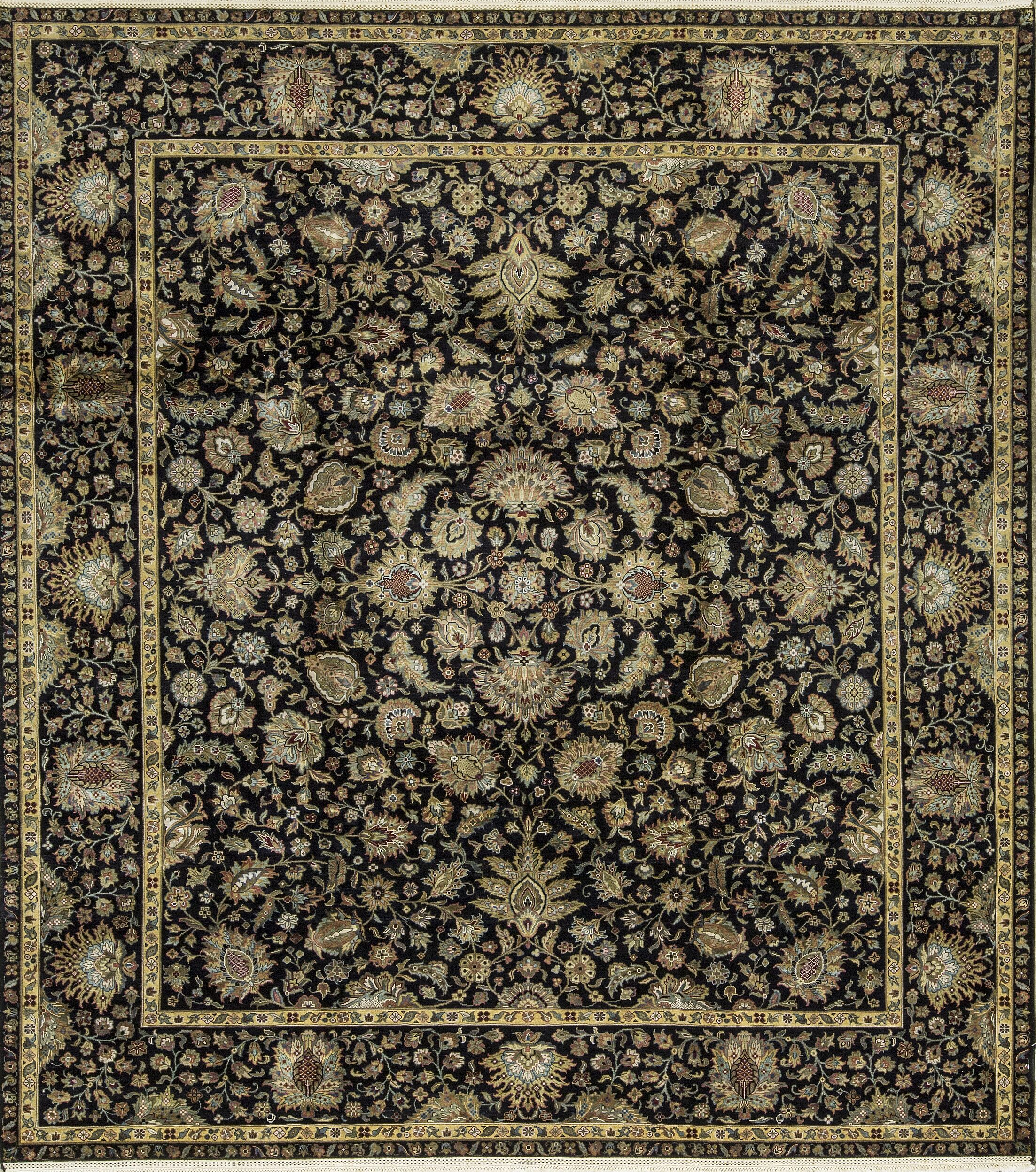 One-of-a-Kind Sheela Hand-Knotted Black Indoor Area Rug