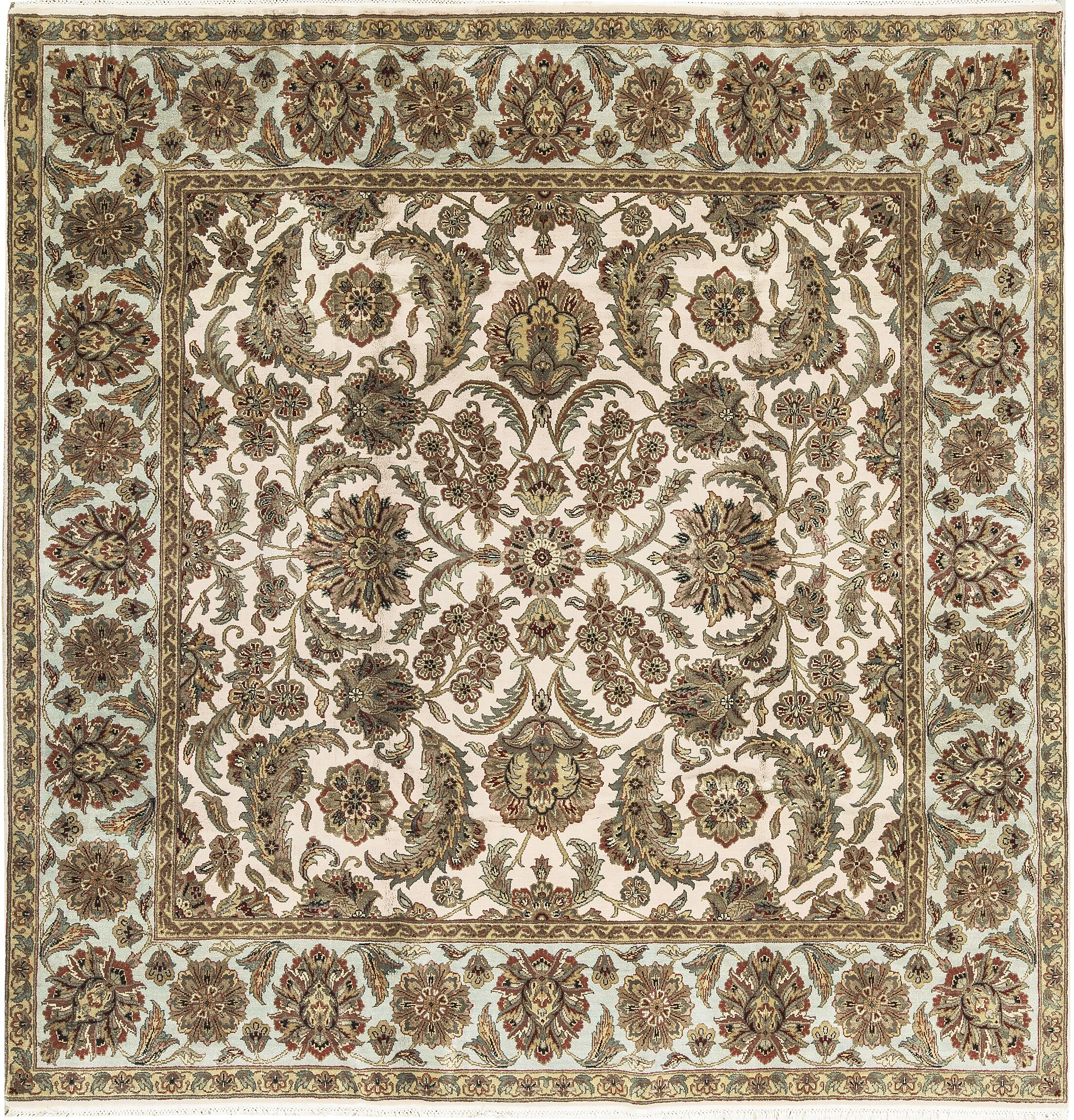 One-of-a-Kind Hand-Knotted Wool Beige/Olive Indoor Area Rug