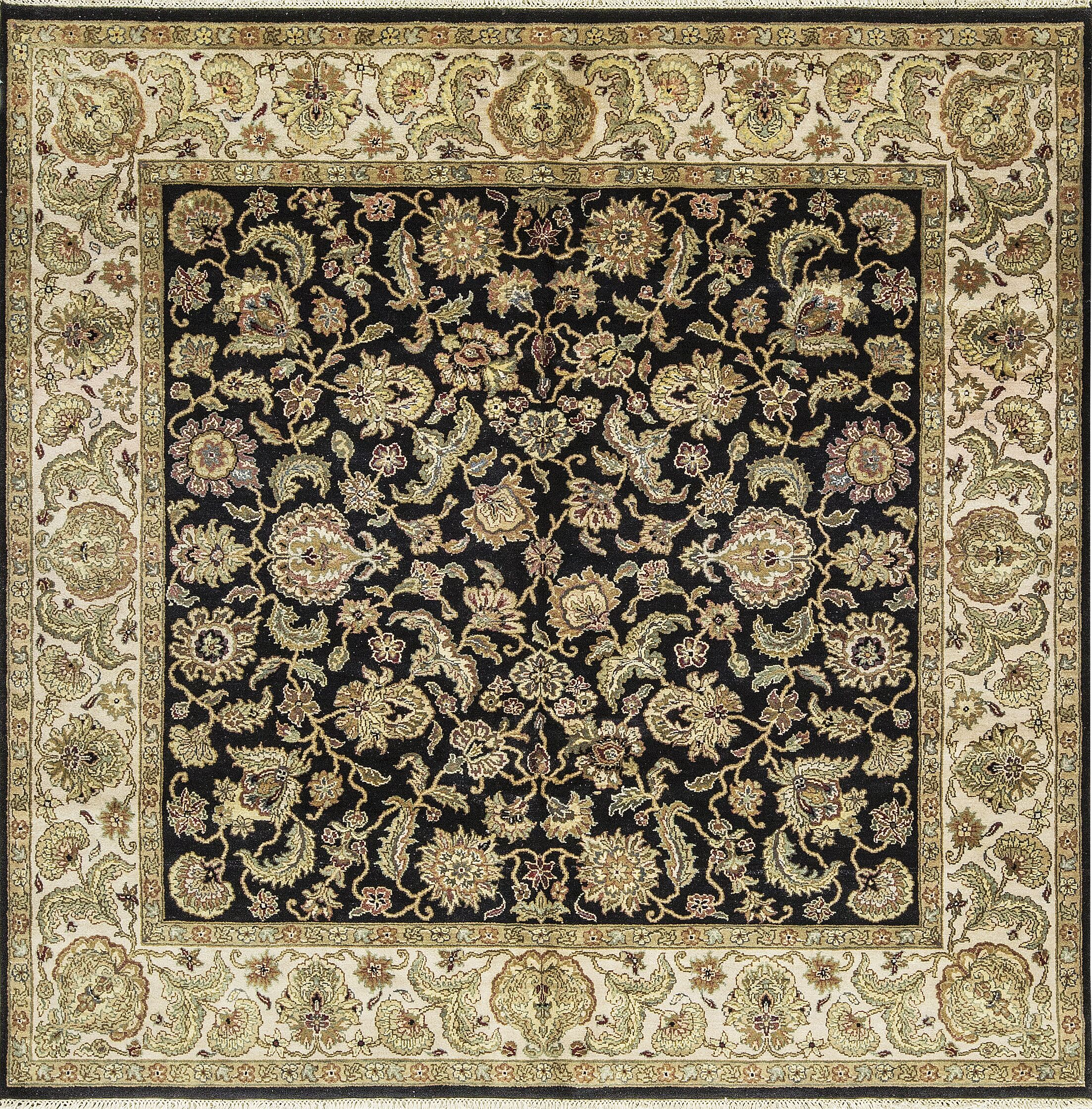 One-of-a-Kind Avalon Handwoven Wool Black/Beige Indoor Area Rug