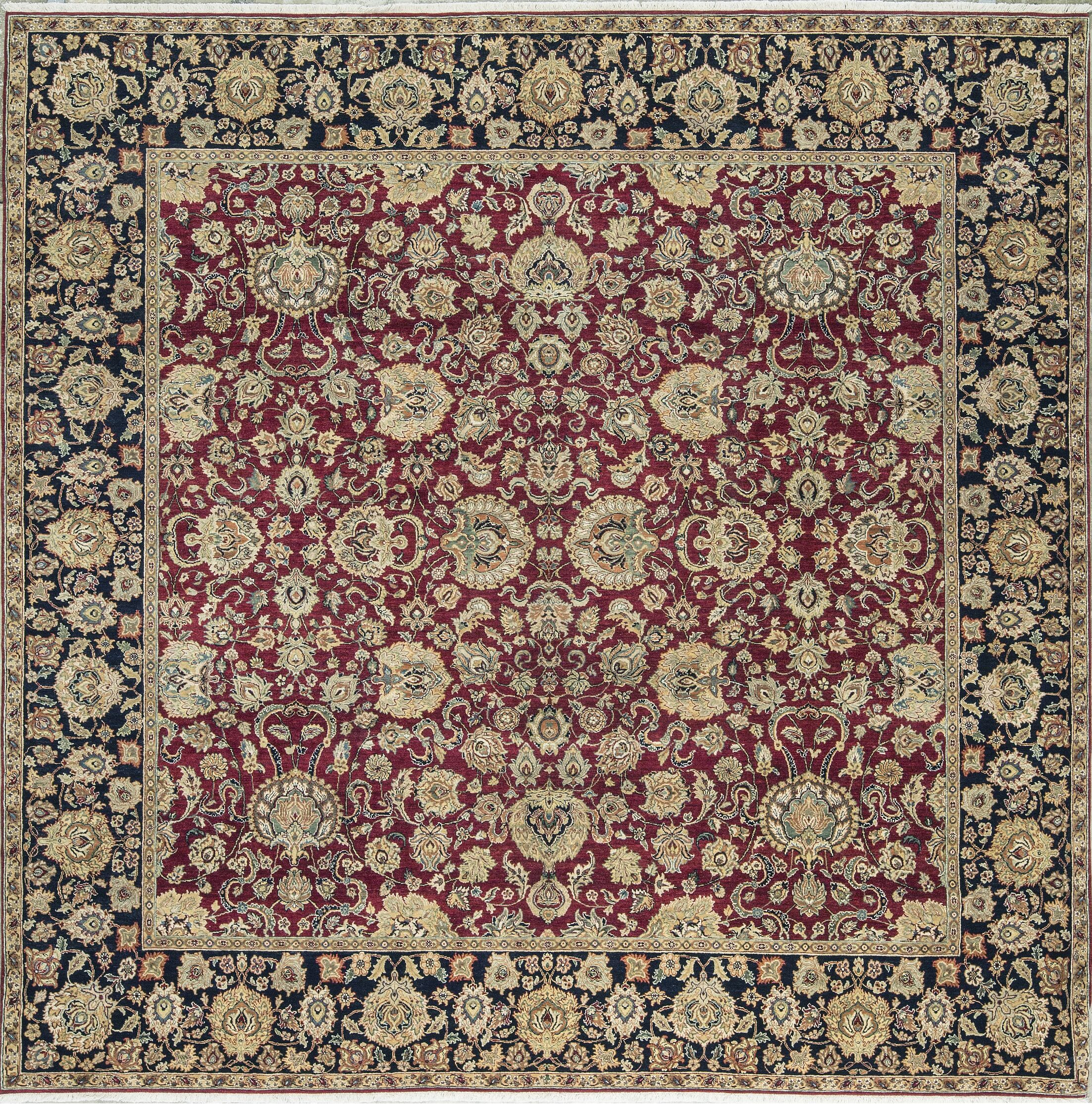 One-of-a-Kind Hand-Knotted Wool Red/Beige Indoor Area Rug