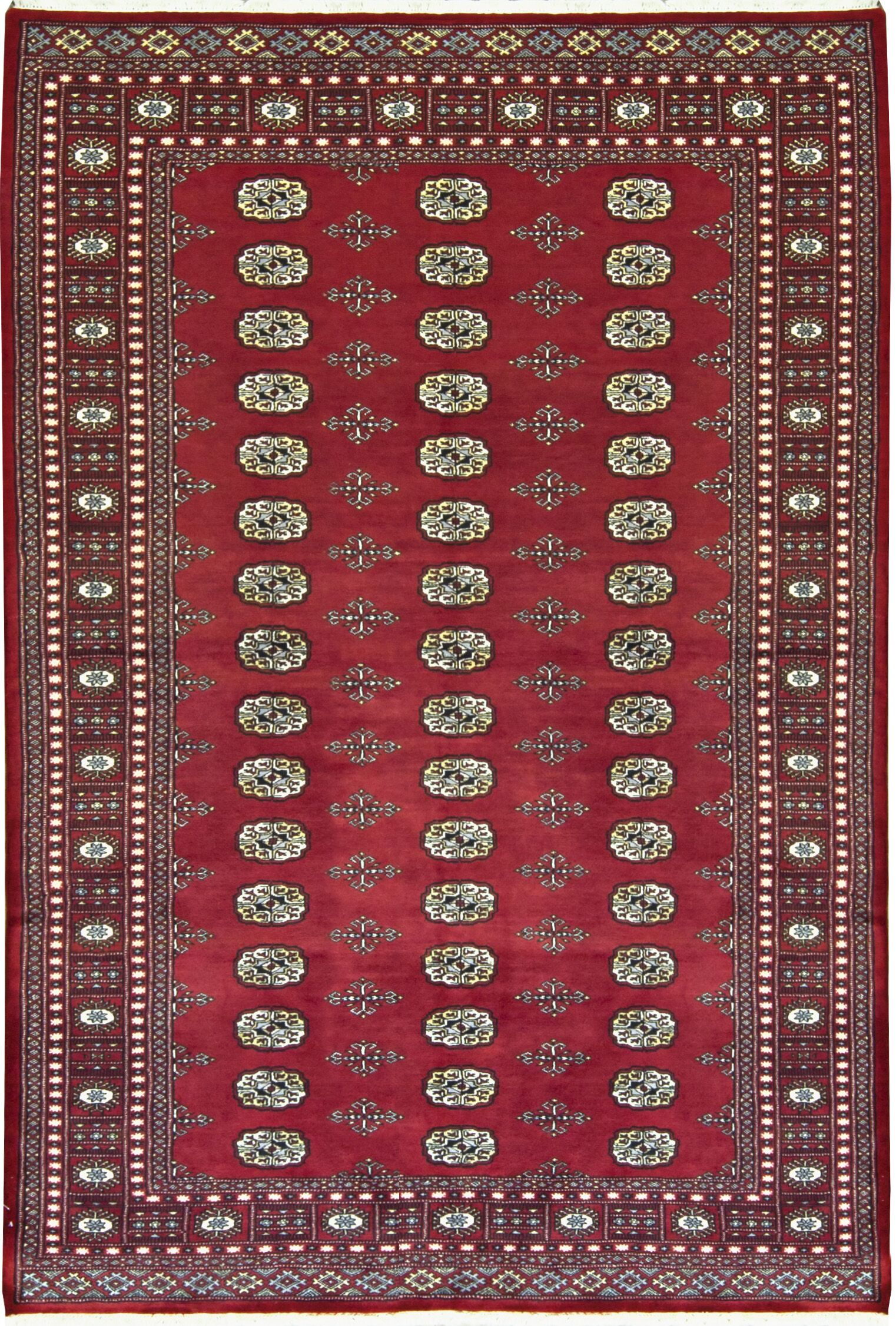 One-of-a-Kind Mori Handwoven Wool Red Indoor Area Rug