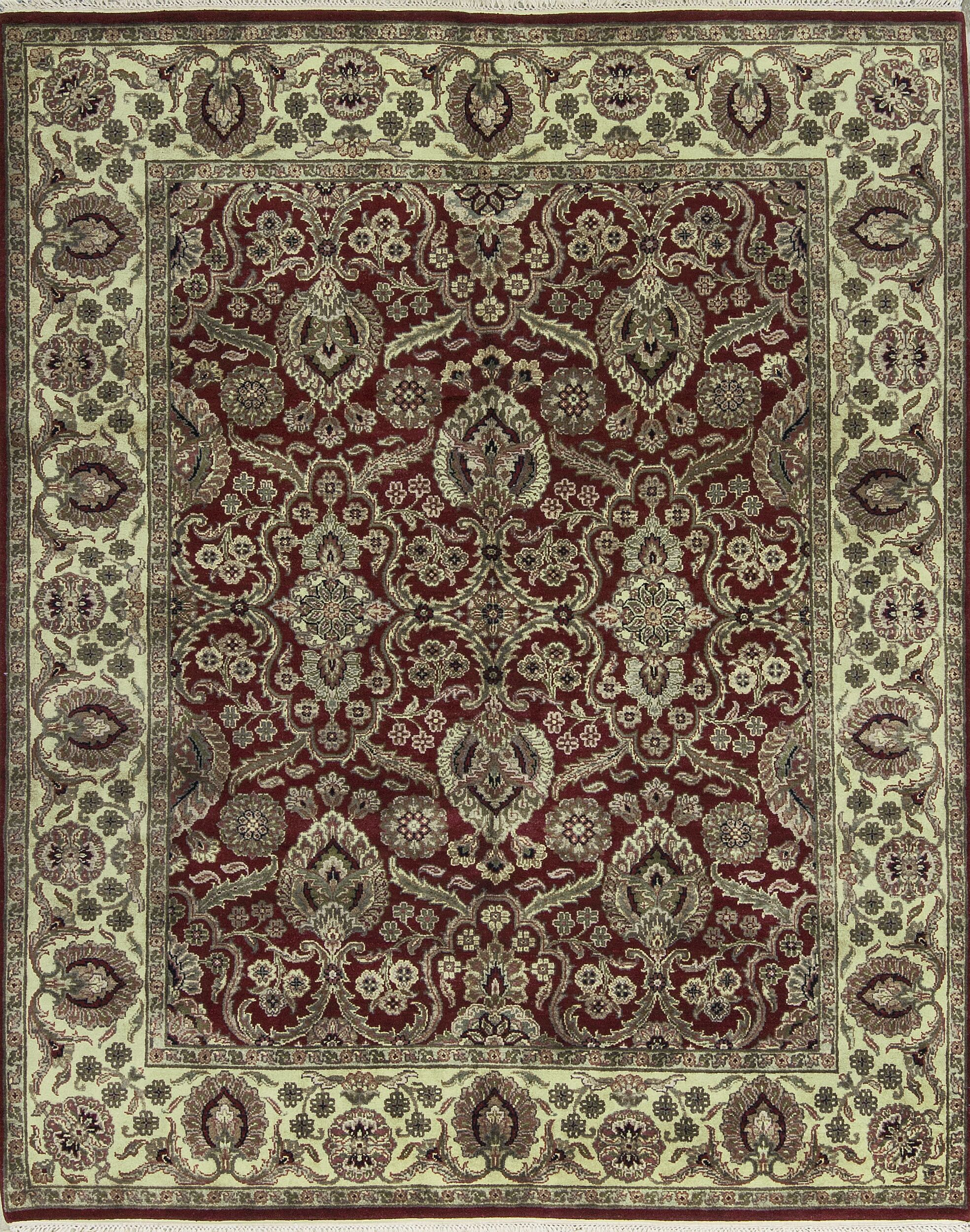 One-of-a-Kind Handwoven Wool Red/Ivory Indoor Area Rug