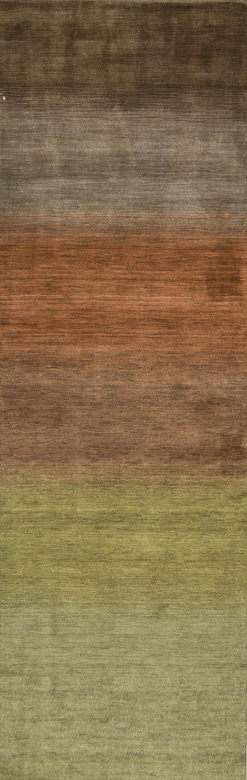 Gabbeh Wool Green/Brown Indoor Area Rug