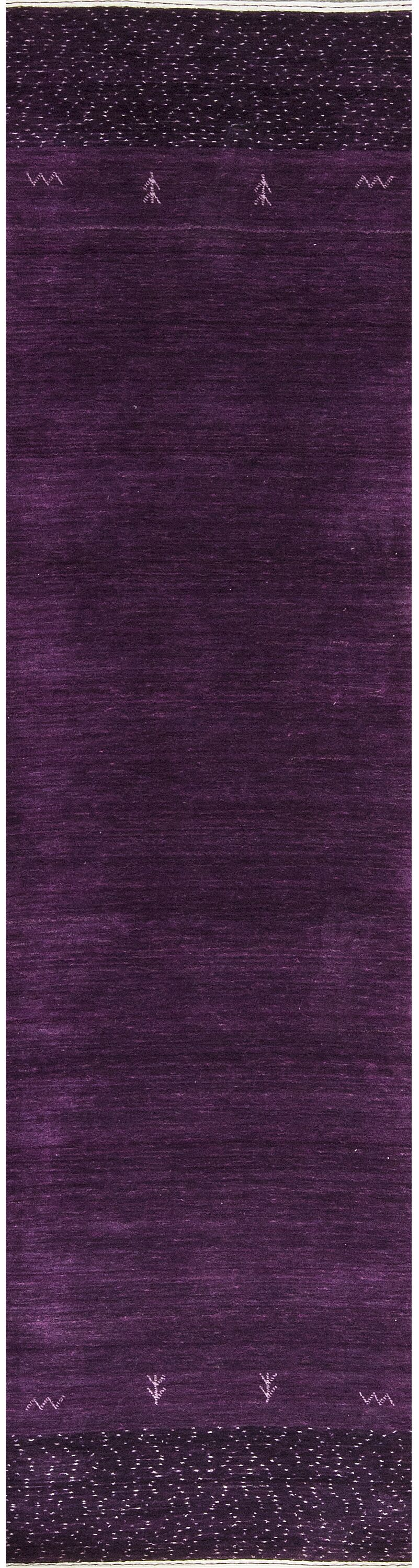 One-of-a-Kind Hand-Knotted Wool Lilac Indoor Area Rug